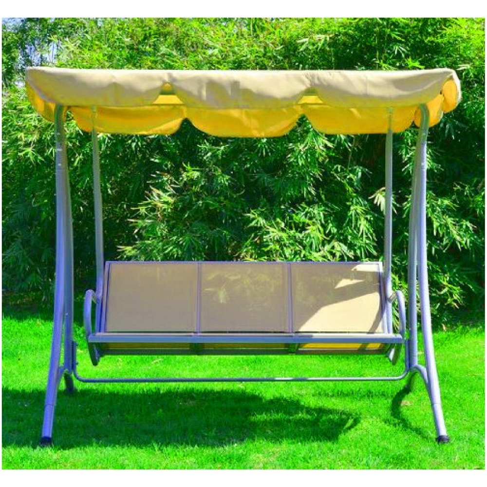 Favorite Amazon : Bs Outdoor Porch Swing With Stand 3 Person Regarding 3 Person Outdoor Porch Swings With Stand (View 1 of 30)