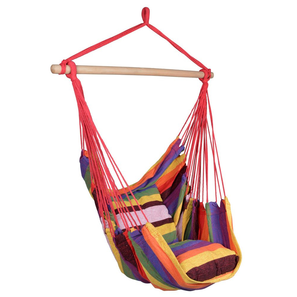 Favorite Amazon: Lovinland Cotton Hammock Hanging Rope Chair Pertaining To Cotton Porch Swings (Gallery 19 of 30)