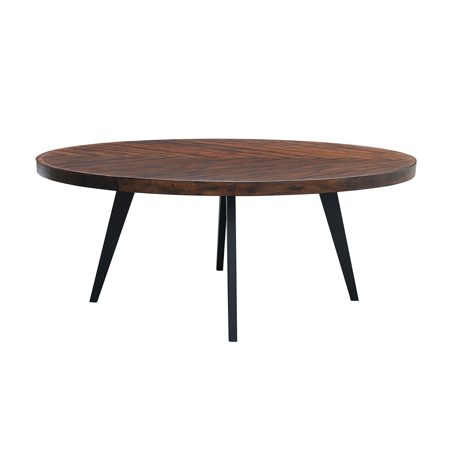 Favorite Avalon Oval Dining Table Acacia Top Tobacco Finish/metal For Acacia Top Dining Tables With Metal Legs (View 9 of 30)