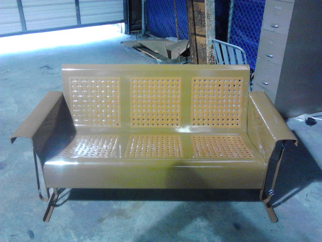 Favorite Classic Glider Benches With Powdercoated Restored Vintage Metal Patio Gliders – Vintage (Gallery 24 of 30)