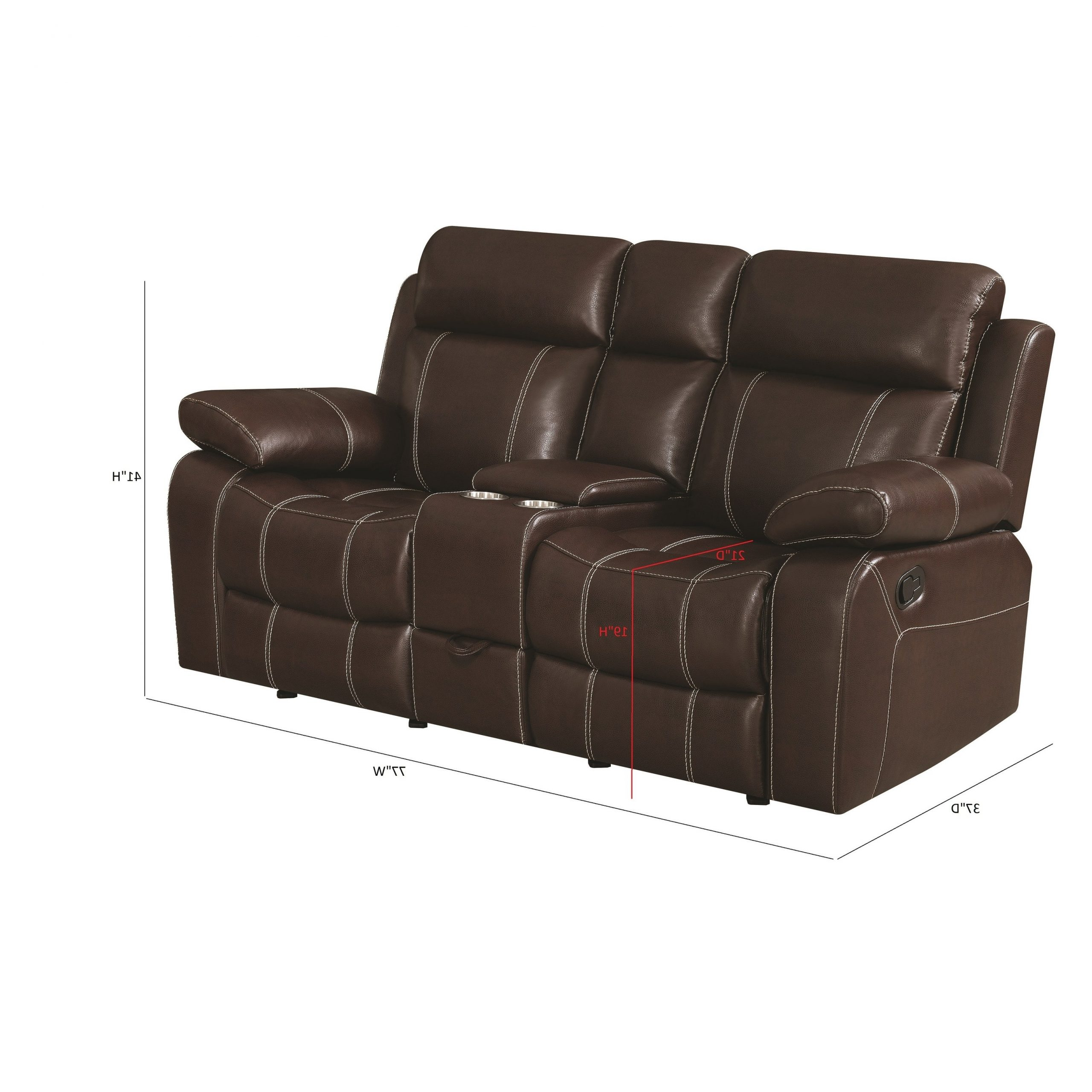 "Favorite Copper Grove Glentress Brown Double Gliding Loveseat With Console – 76"" X 37"" X 40"" Pertaining To Double Glider Loveseats (View 15 of 30)"