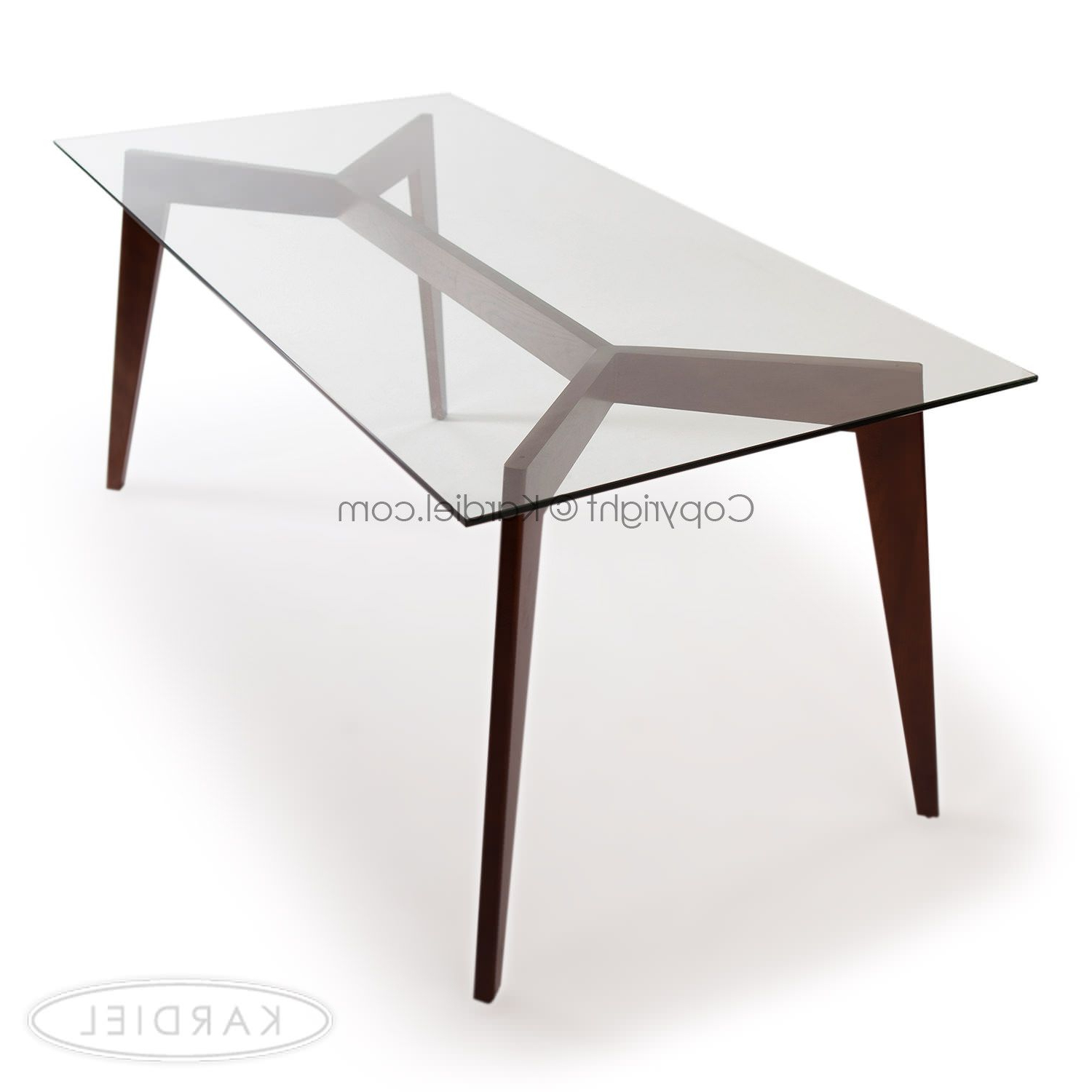 Favorite Deco Blaze Dining Table, Walnut (View 30 of 30)