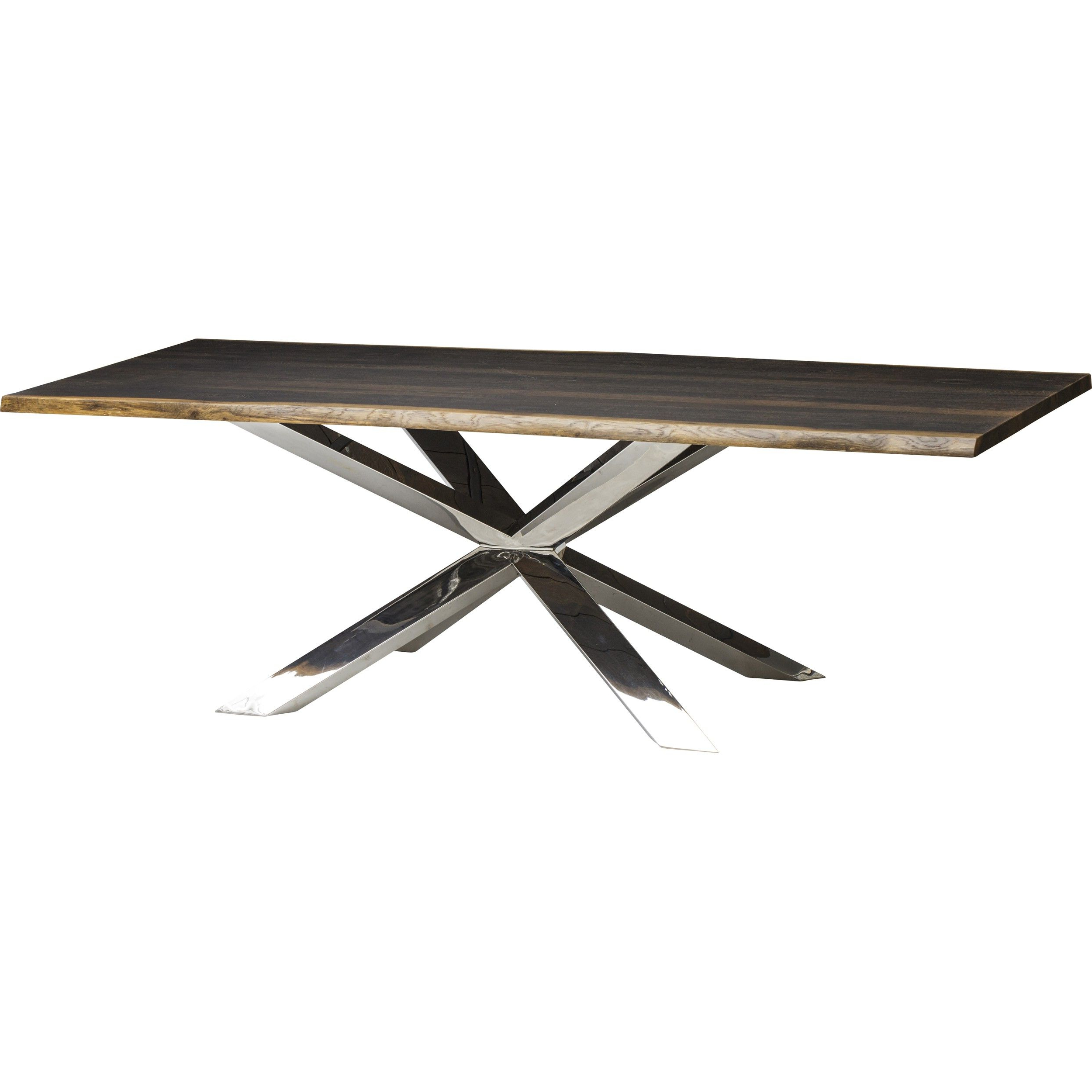 Favorite Dining Tables In Seared Oak In Couture Dining Table, Seared Oak/polished Stainless Base (Gallery 5 of 30)