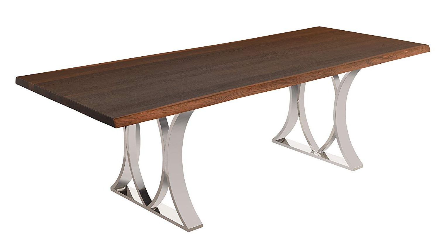 Favorite Dining Tables In Smoked Seared Oak Regarding Amazon – Nuevo Rectangular Mila Dining Table With Matte (View 8 of 30)