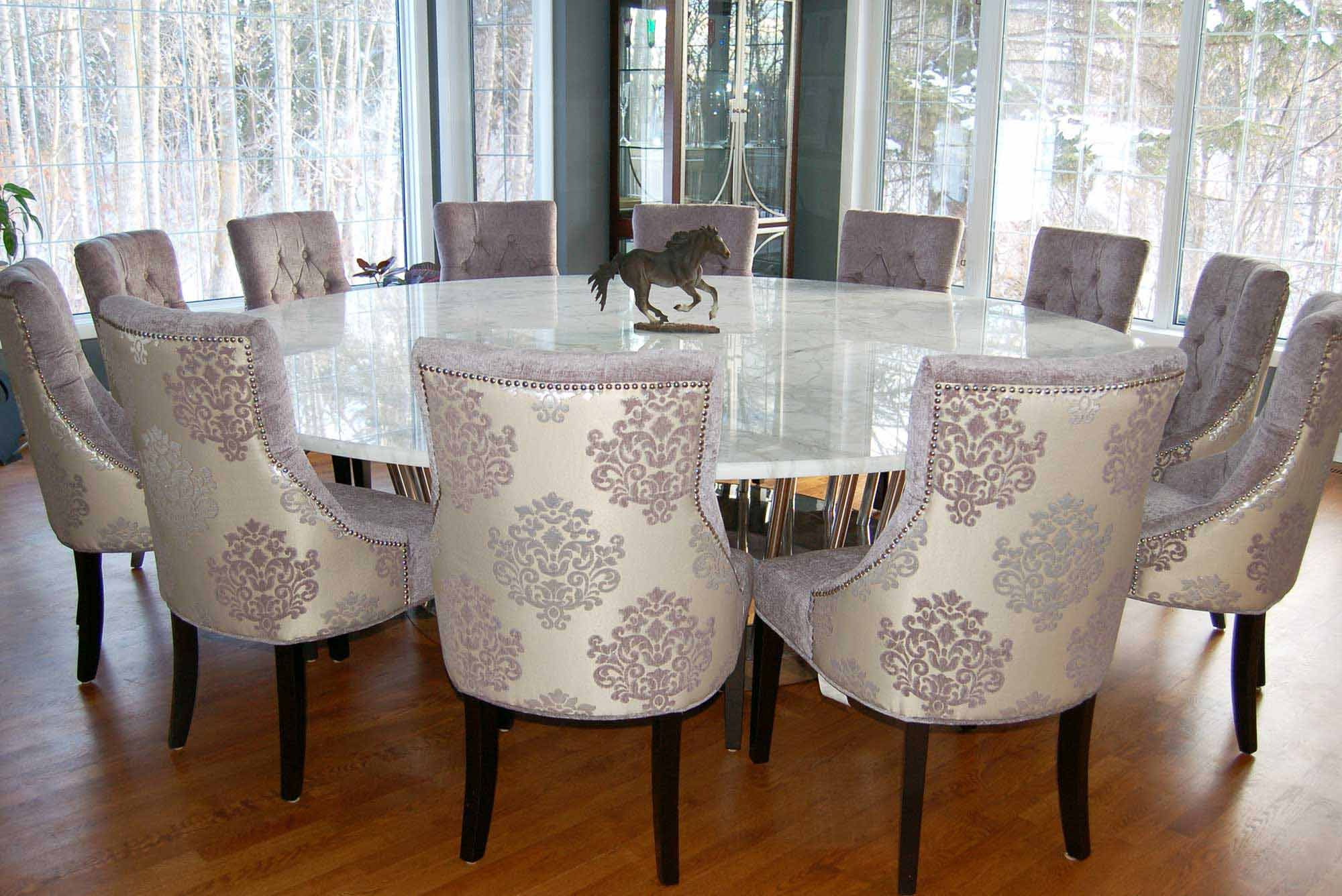 Favorite Elegance Large Round Dining Tables With Dining Room, Big Rounded Dining Table With Marble Top (View 1 of 30)