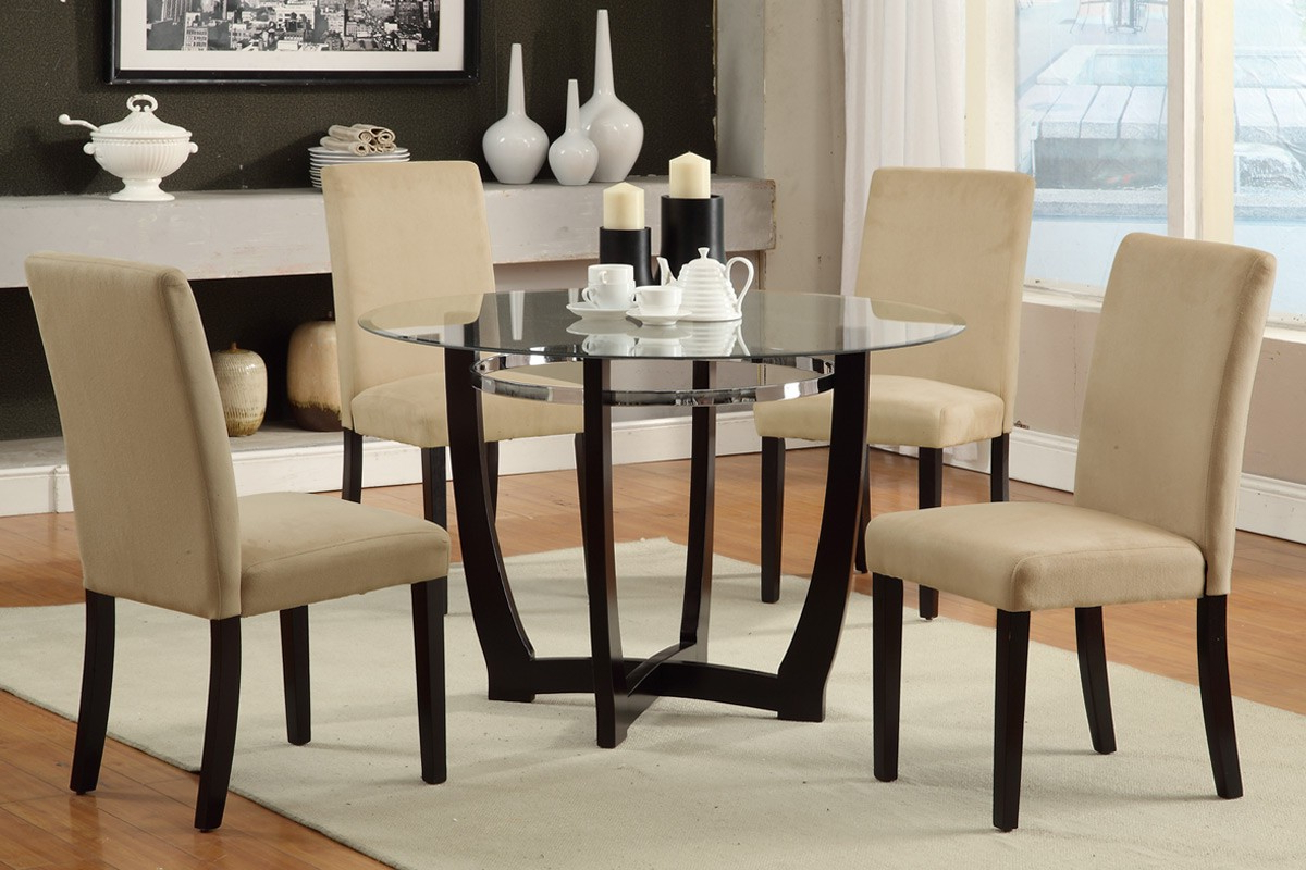 Favorite Elegant And Sophisticated Glass Round Kitchen Table — Gearon In Elegance Small Round Dining Tables (Gallery 16 of 30)