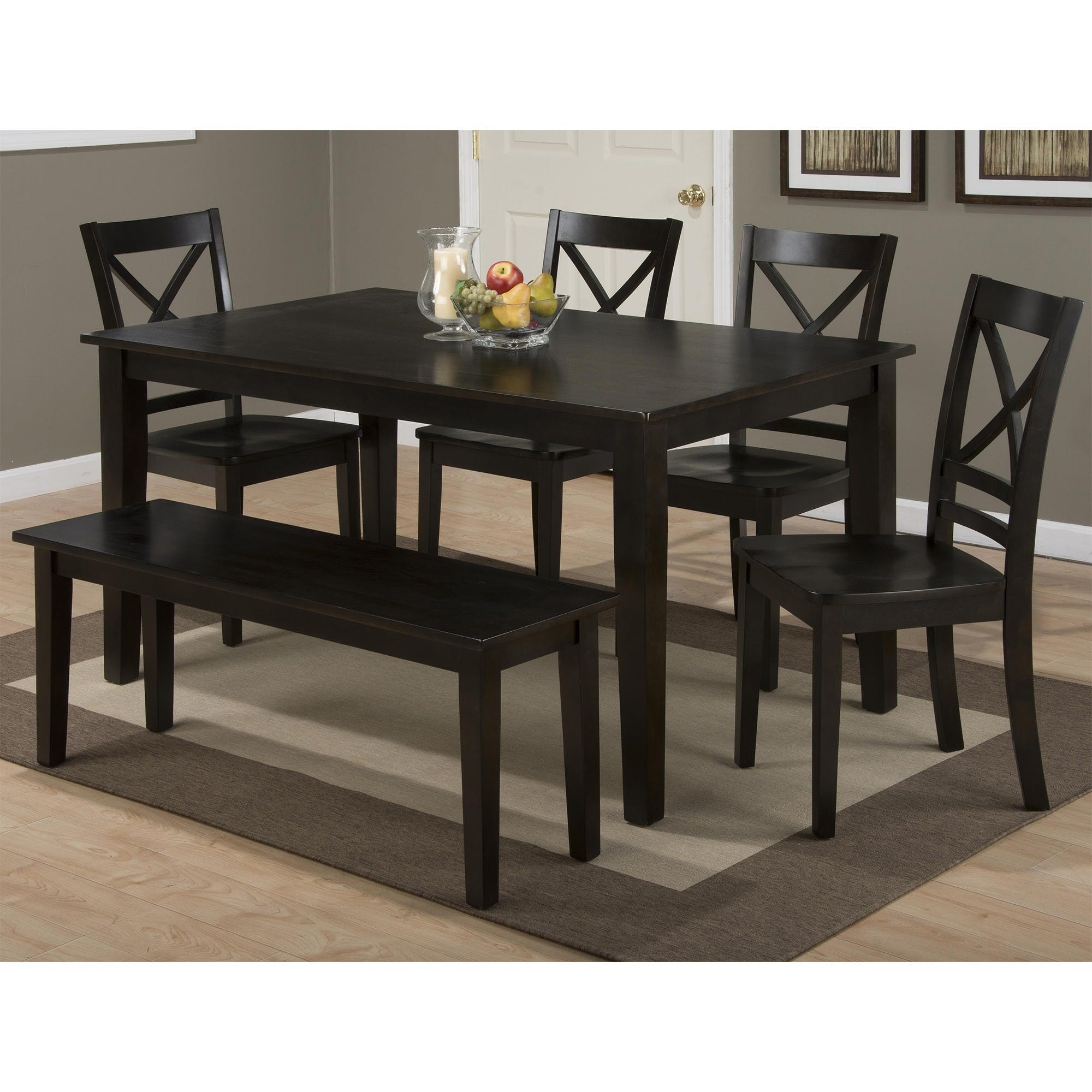 Favorite Espresso Finish Wood Classic Design Dining Tables Intended For Simplicity Espresso 6 Piece Rectangular Set (Rectangular (View 15 of 30)