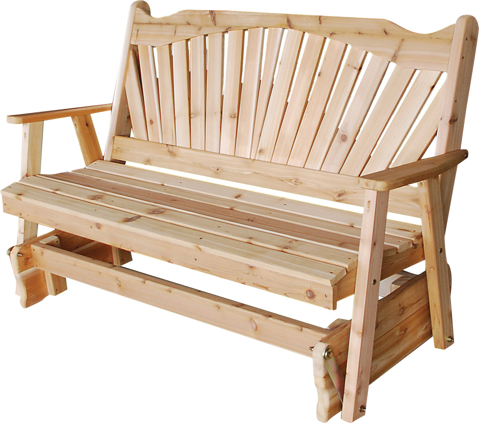 Favorite Fanback Glider Benches Pertaining To Gazaway Fanback Glider Bench (Gallery 15 of 30)