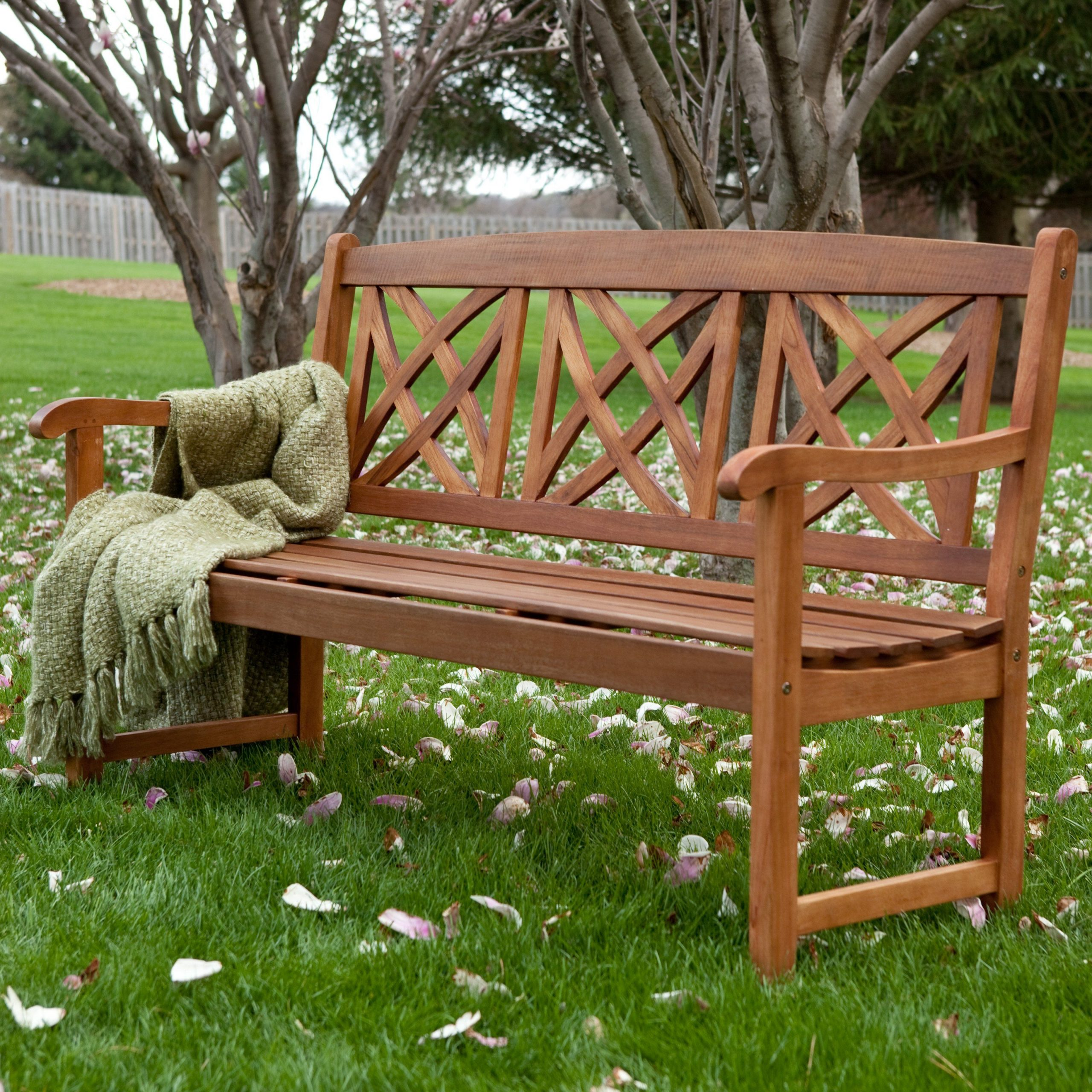 Favorite Have To Have It. Magnolia 5 Ft. Wood Garden Bench – $209.98 Throughout Wood Garden Benches (Gallery 18 of 30)