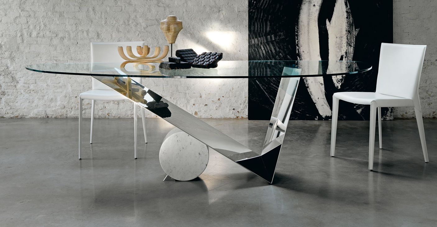 Favorite Long Dining Tables With Polished Black Stainless Steel Base For Valentinox – Ventura Interiors (View 22 of 30)