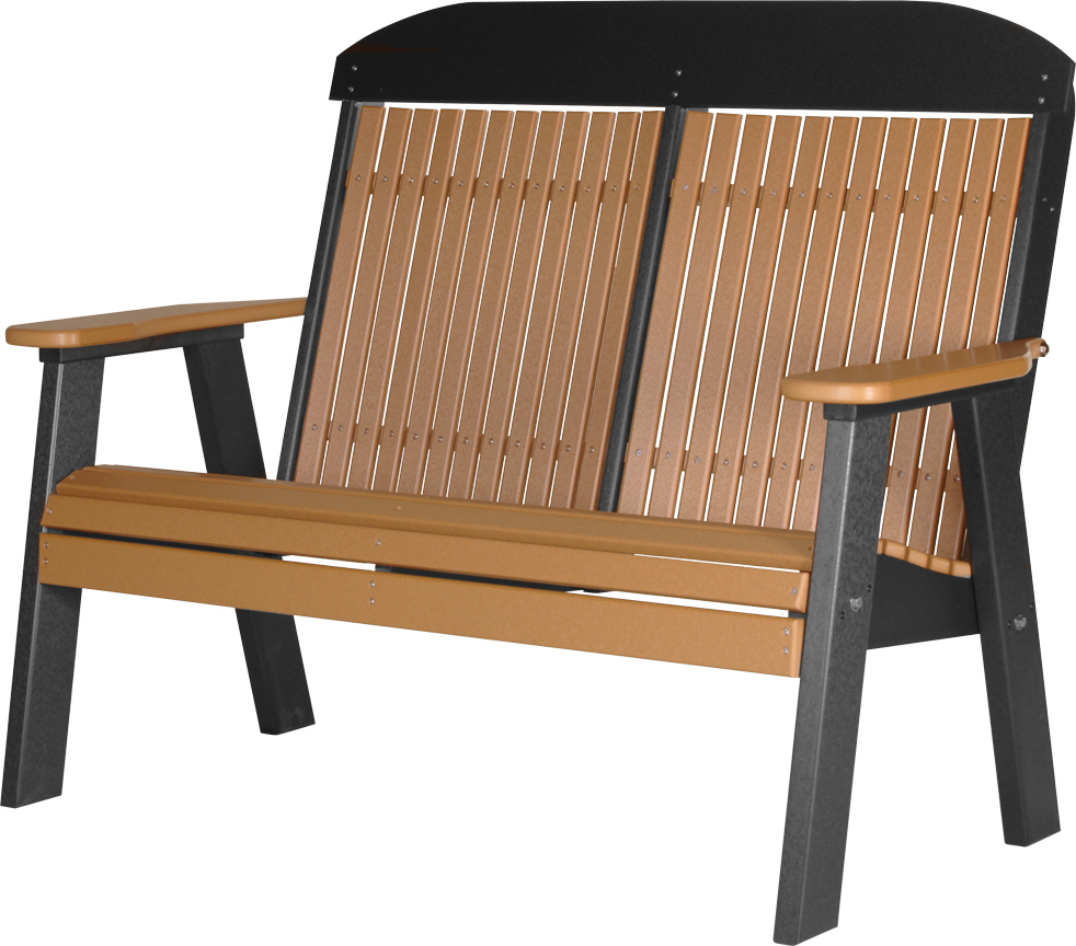 Favorite Luxcraft 4' Classic Highback Bench – Amish Yard Inside Cedar Colonial Style Glider Benches (Gallery 28 of 30)