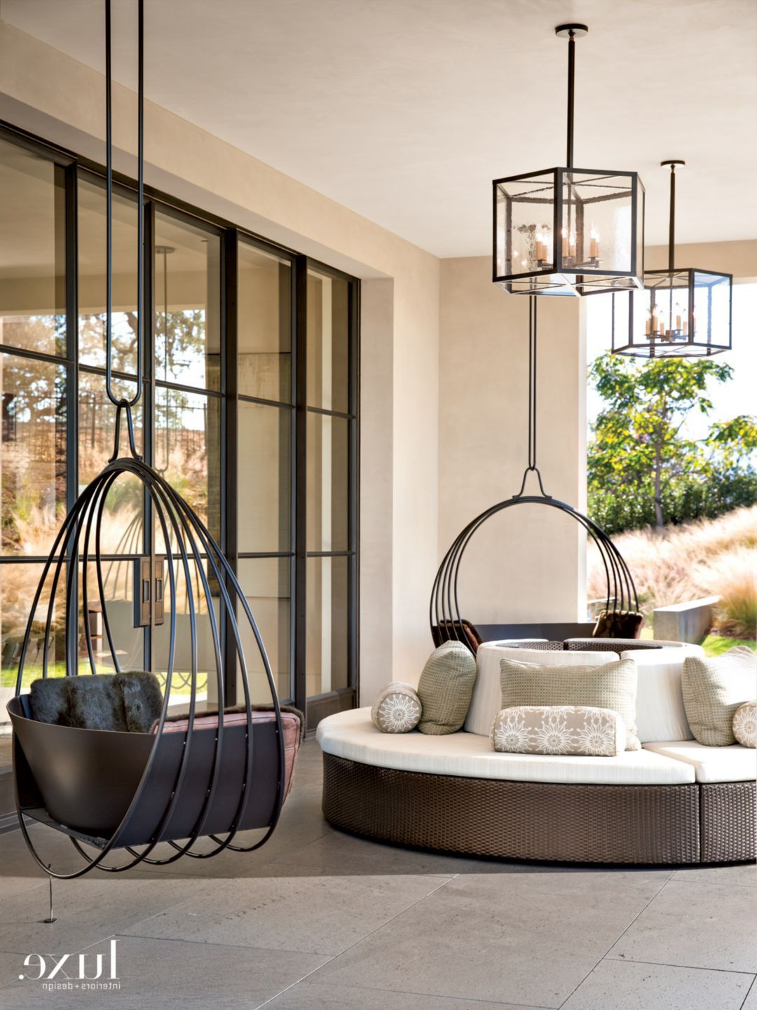 Favorite Modern Outdoor Seating From Top Like Seats That Twirl Around Pertaining To Lamp Outdoor Porch Swings (View 2 of 30)