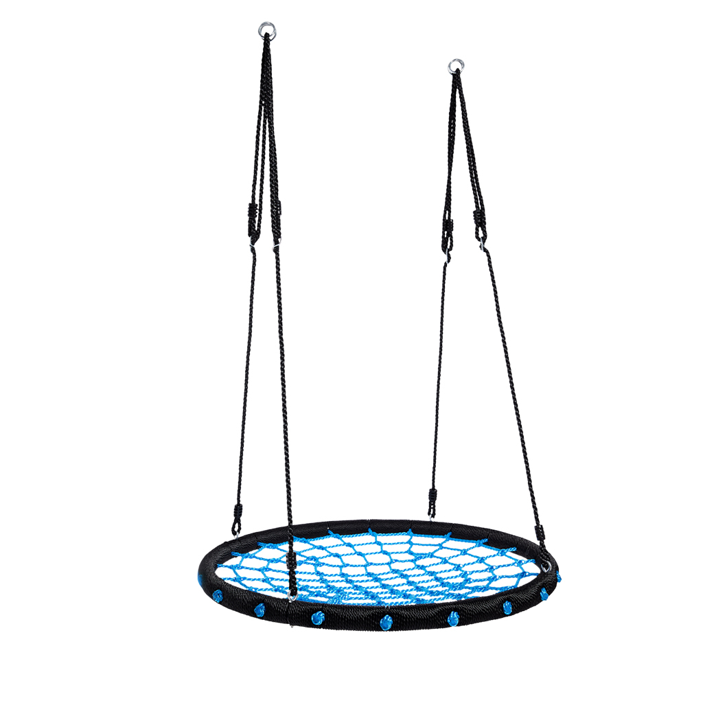 Favorite Nest Swing 100 Cm Childrens Round Plate Swing Mesh Swing Throughout Nest Swings With Adjustable Ropes (Gallery 29 of 30)