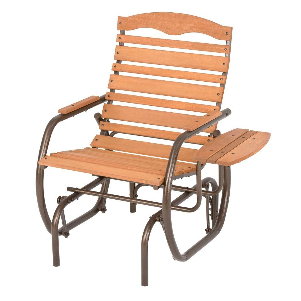 Favorite Outside Glider Chairs – Facingwalls Intended For Outdoor Patio Swing Glider Bench Chair S (View 17 of 30)