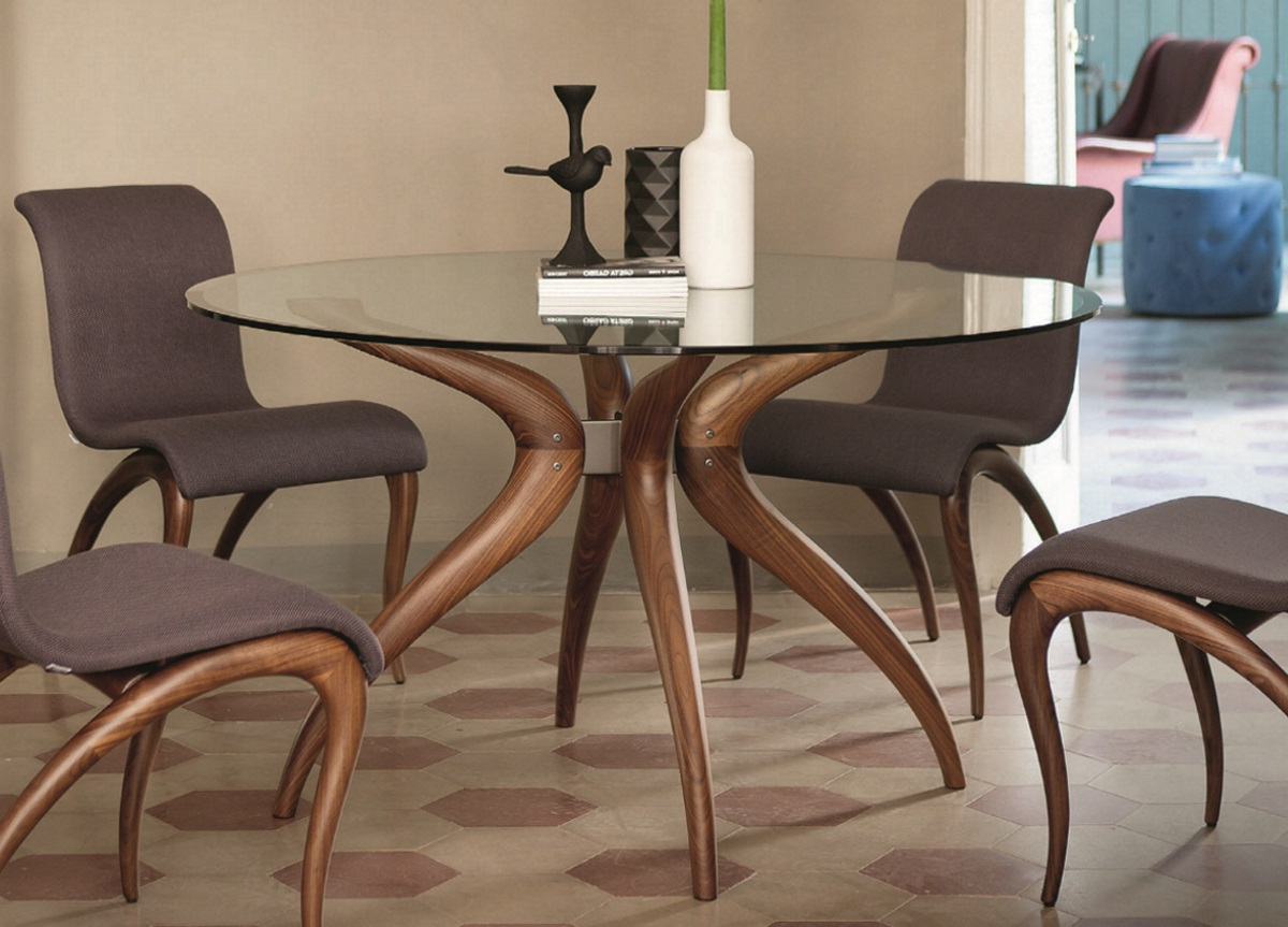 Favorite Retro Round Glasstop Dining Tables For 60 Round Dining Table Glass Top — Chris Style From (Gallery 13 of 30)