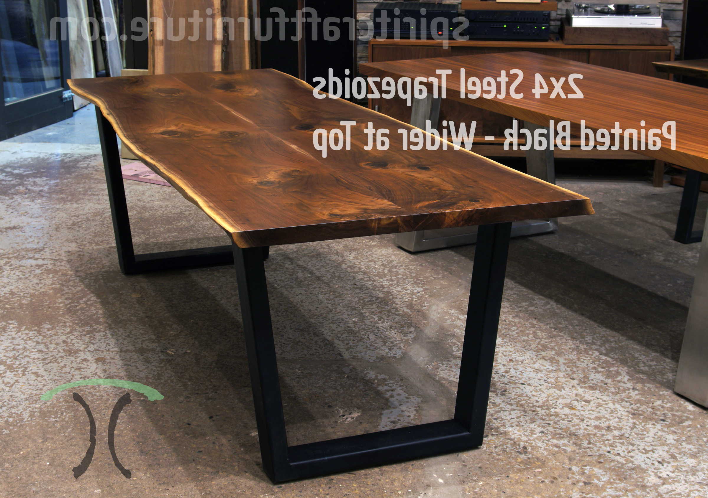 Favorite Table Legs And Bases For Hardwood Slab Table Tops Regarding Dining Tables With Black U Legs (Gallery 9 of 30)