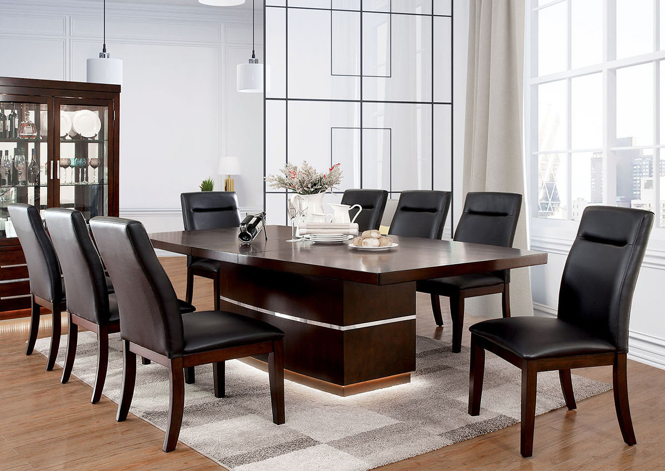 Favorite Transitional 6 Seating Casual Dining Tables For The Furniture Source Lawrence Dark Cherry Extension Dining (View 12 of 30)