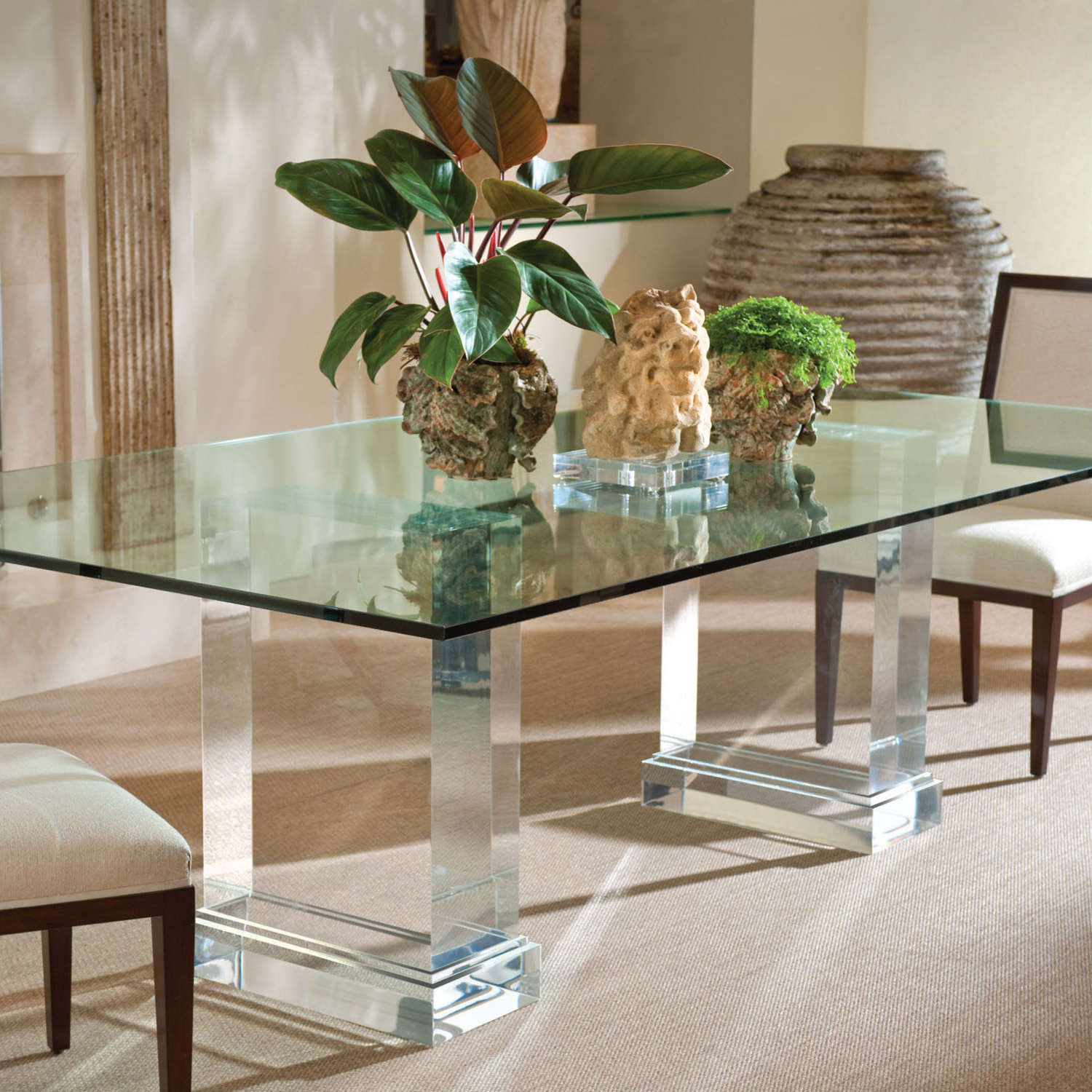 Finest Rectangle Glass Top For Dining Table On With Hd Throughout Latest Rectangular Glasstop Dining Tables (View 12 of 30)