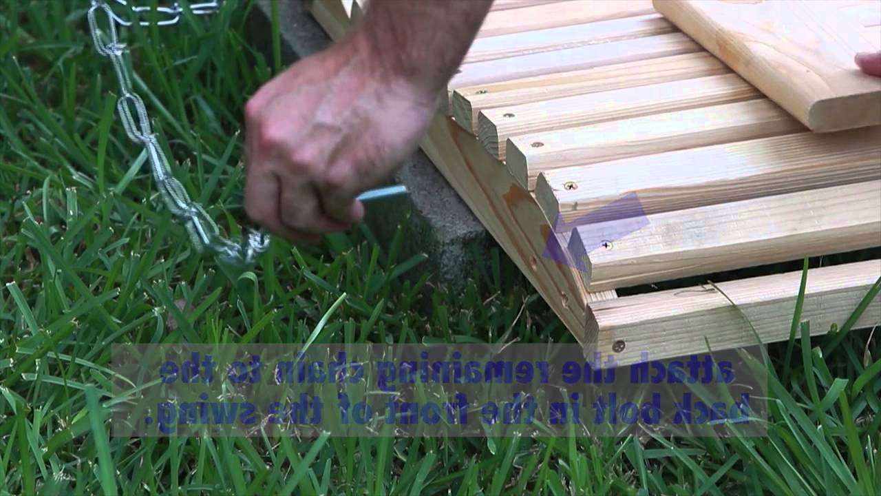 Fordyce Porch Swings For 2019 How To Assemble A Porch Swing (View 9 of 30)