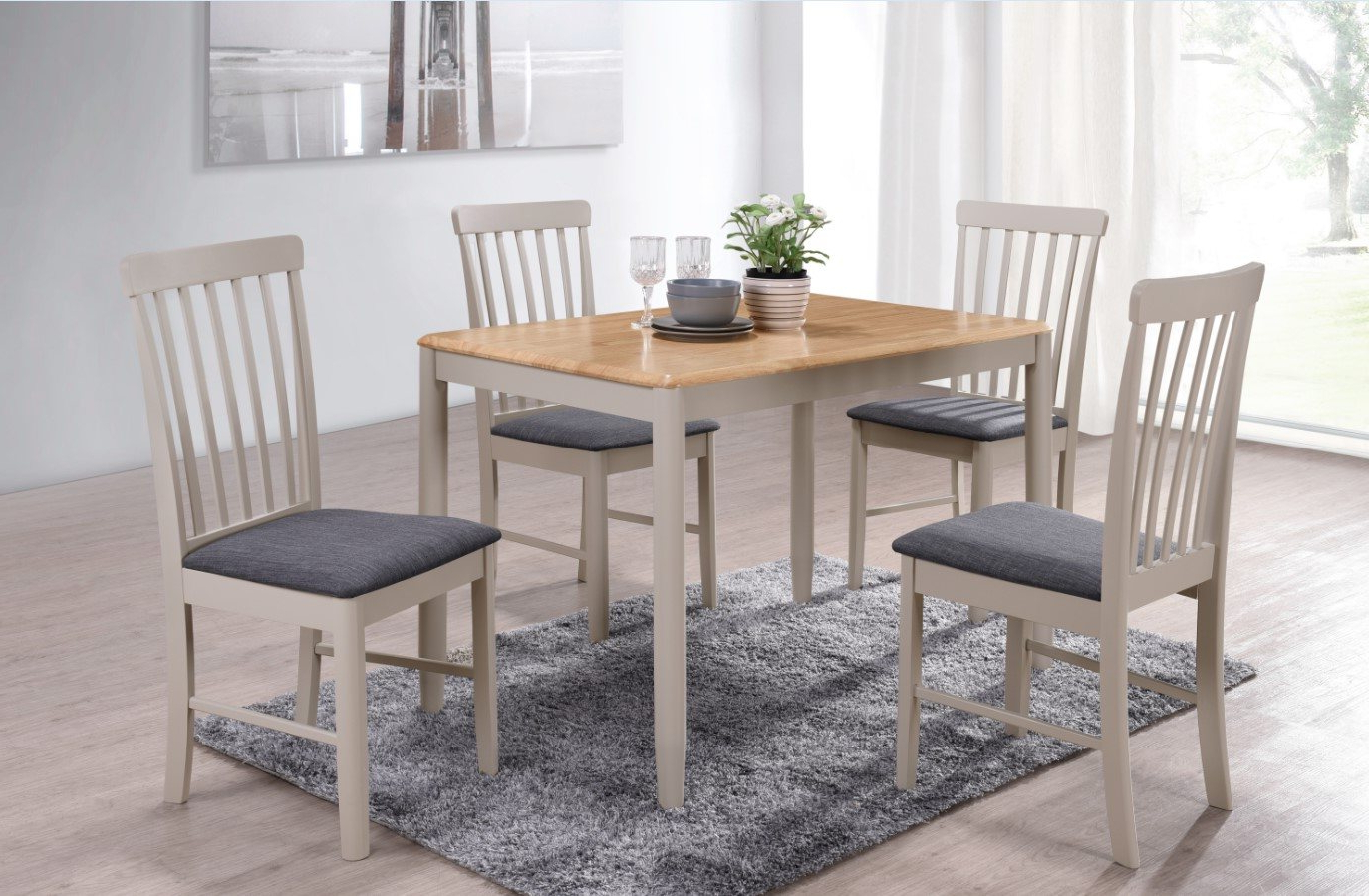 Fowey Fixed Top Dining Table Throughout Trendy Wood Top Dining Tables (Gallery 20 of 30)