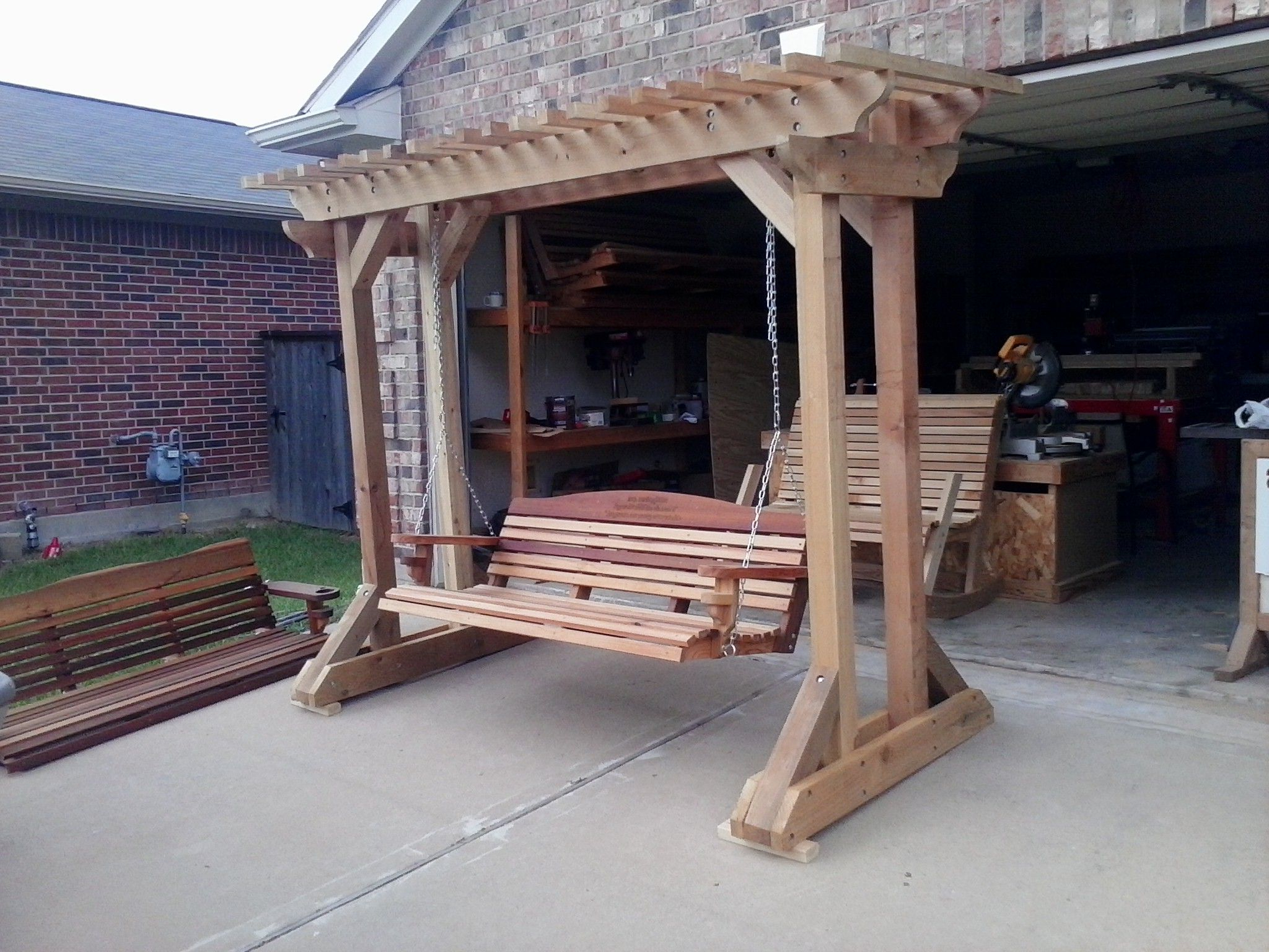 Free Standing Arbor – Plans Only, We No Longer Sell This Regarding Famous A4 Ft Cedar Pergola Swings (View 16 of 30)