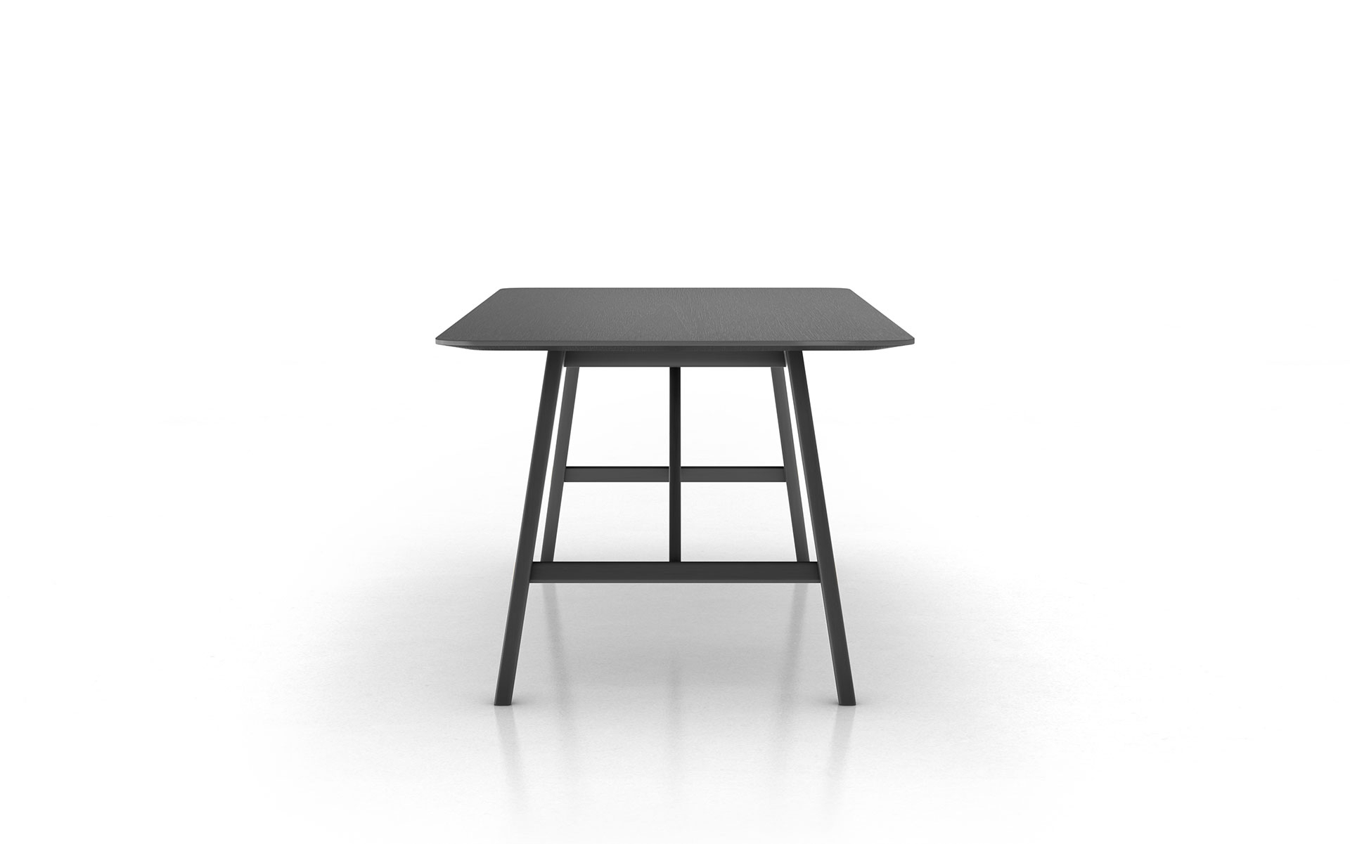 Frosted Glass Modern Dining Tables With Grey Finish Metal Tapered Legs Intended For Trendy Modloft Haru 71in (View 28 of 30)