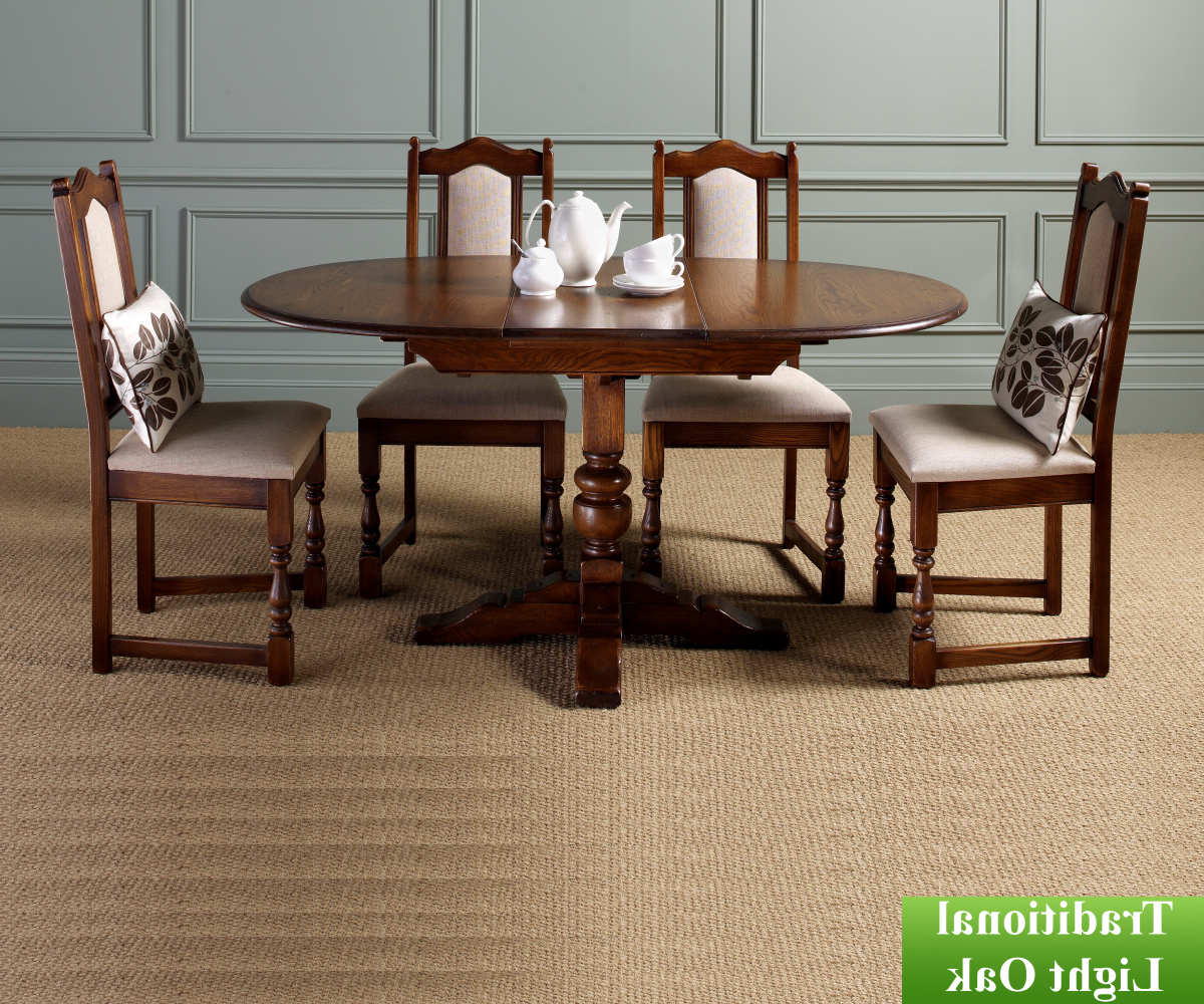 Fumed Oak Dining Tables Throughout Popular Old Charm Classic 2472 Aldeburgh Dining Table – Dining Tables (View 20 of 30)