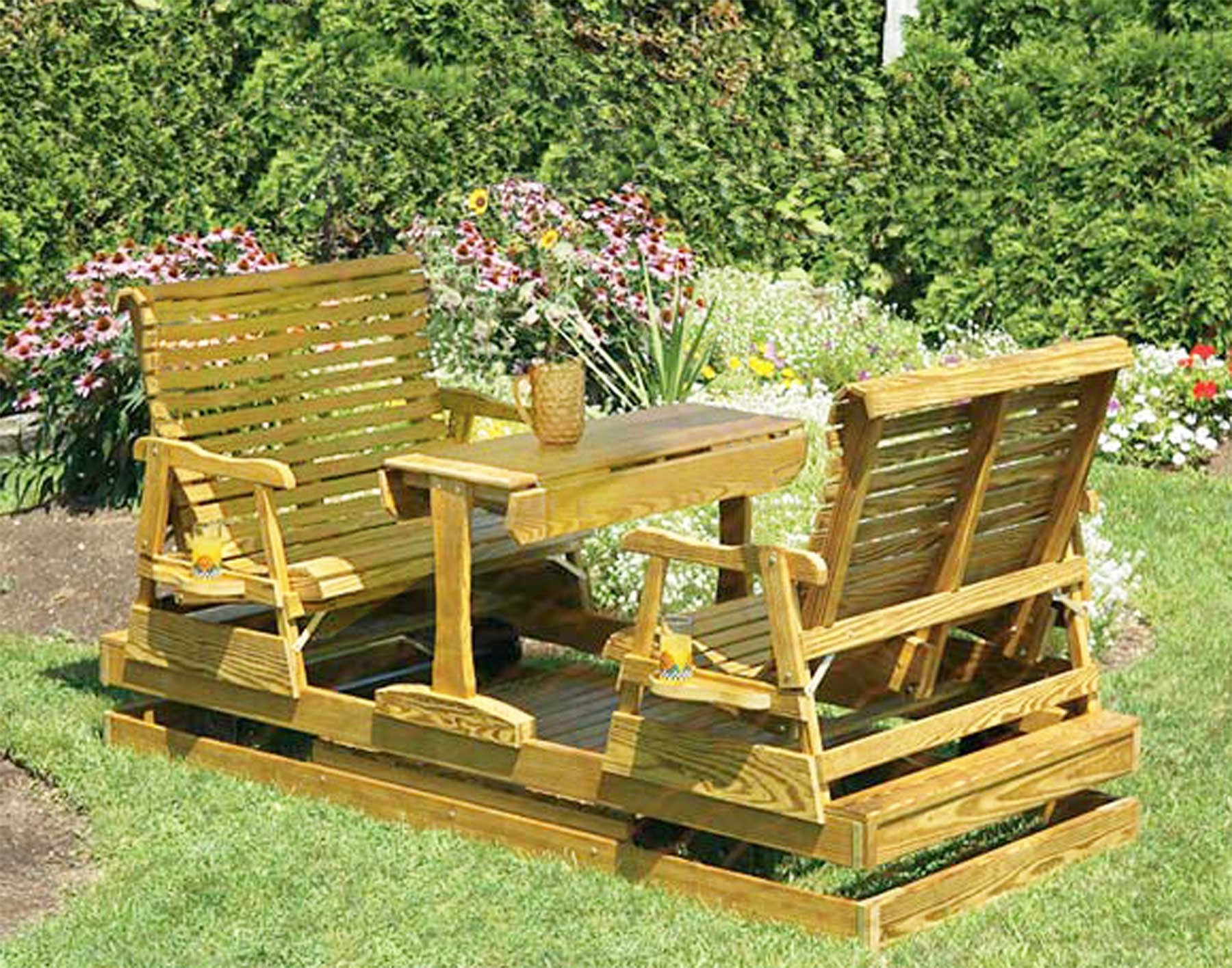 Furniture: Traditional Wood Porch Glider Design For Your Pertaining To Popular Traditional Glider Benches (View 9 of 30)