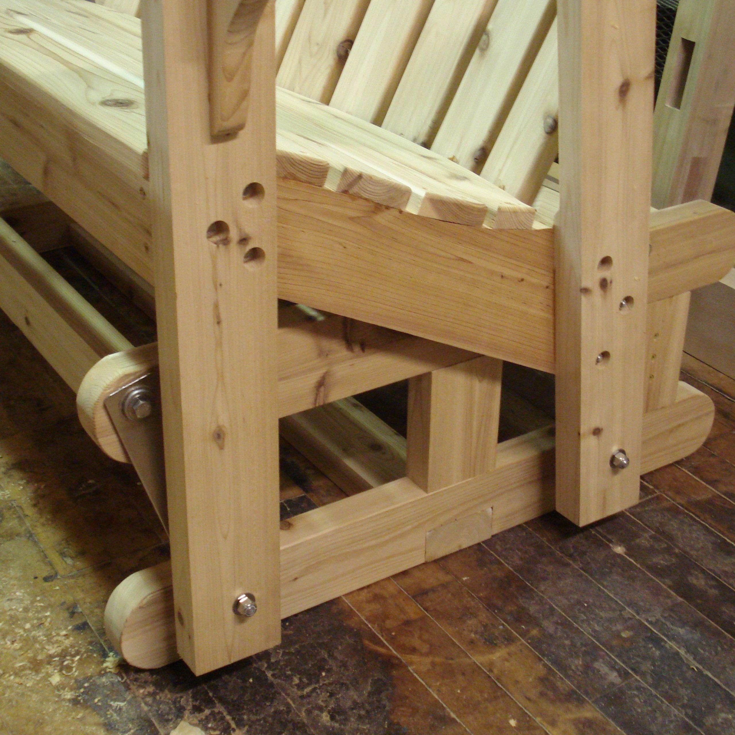 Furniture Traditional Wooden Porch Glider Design For Your Within Popular Traditional Glider Benches (View 8 of 30)