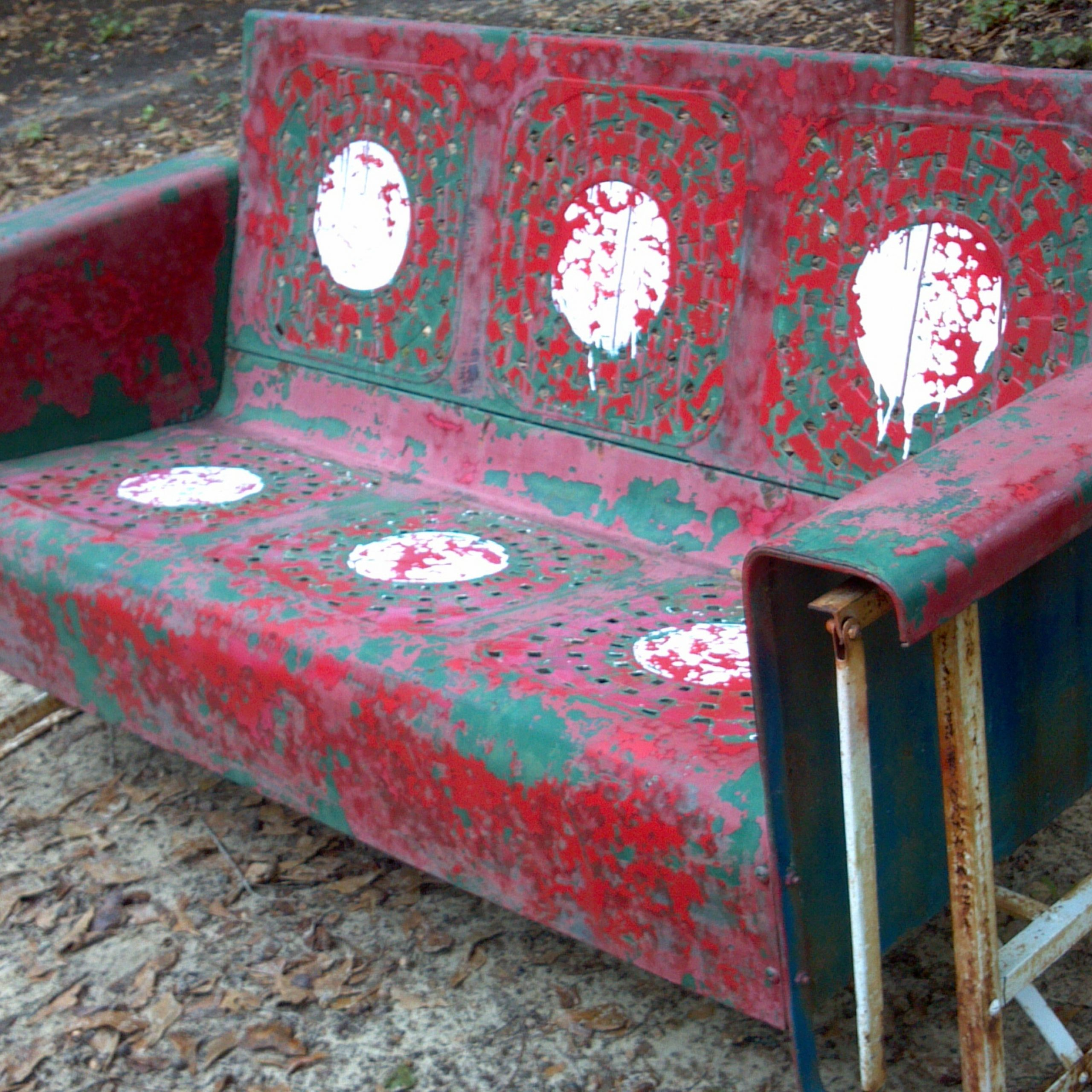 Furniture: Vintage Wood Porch Glider For Inspiring Outdoor Inside Recent Metal Retro Glider Benches (Gallery 23 of 30)
