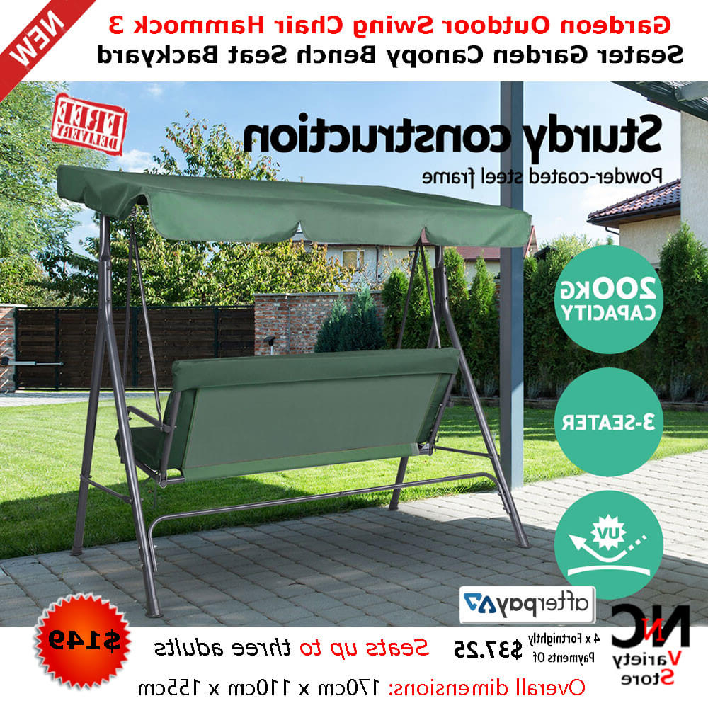 Garden Furniture Hammock Garden Hammock Swing Chair Backyard Pertaining To Well Known 3 Seater Swings With Frame And Canopy (View 10 of 30)