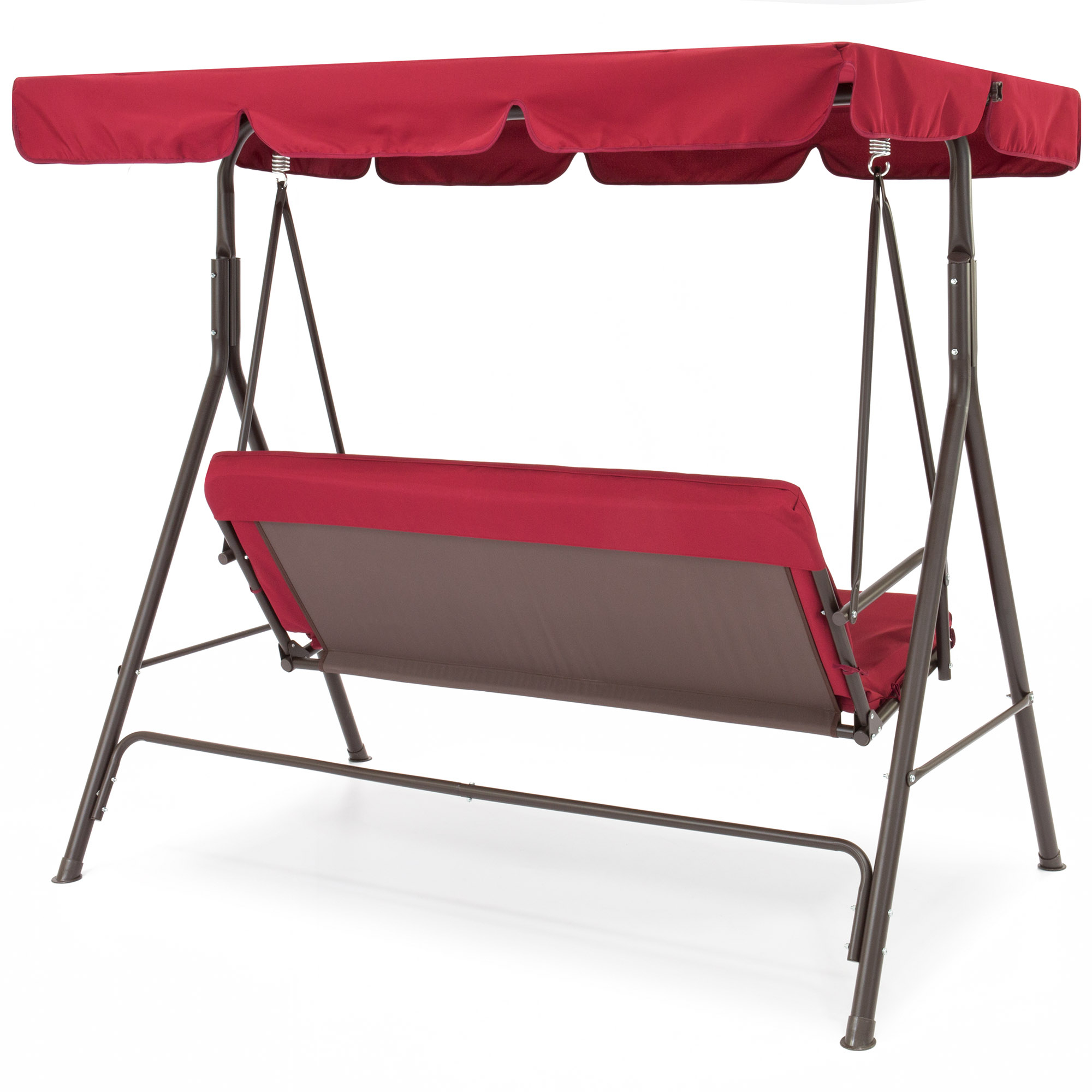 Garden & Patio Furniture Bcp 2 Person Outdoor Canopy Swing Within Preferred 2 Person Outdoor Convertible Canopy Swing Gliders With Removable Cushions Beige (View 11 of 30)