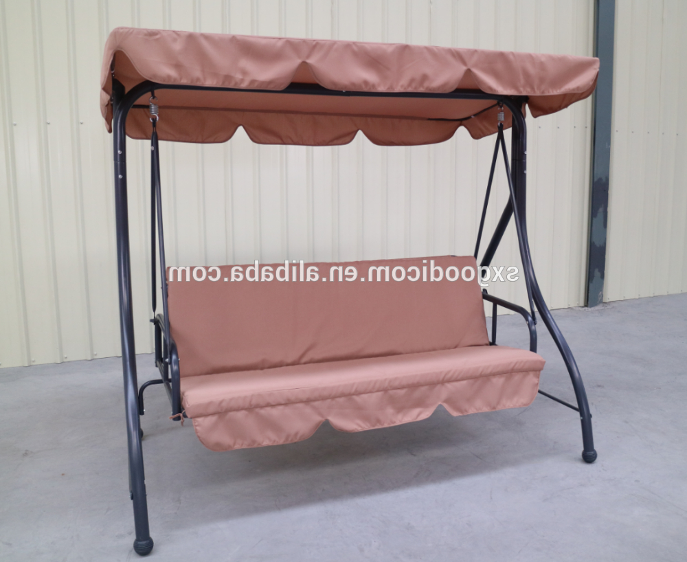 Garden Swing Bed Wrought Iron Swing Chair Outdoor – Buy Outdoor Iron Chairs,patio Garden Swing Bed,antique Wrought Iron Chairs Product On Alibaba Regarding Popular Garden Leisure Outdoor Hammock Patio Canopy Rocking Chairs (View 14 of 30)