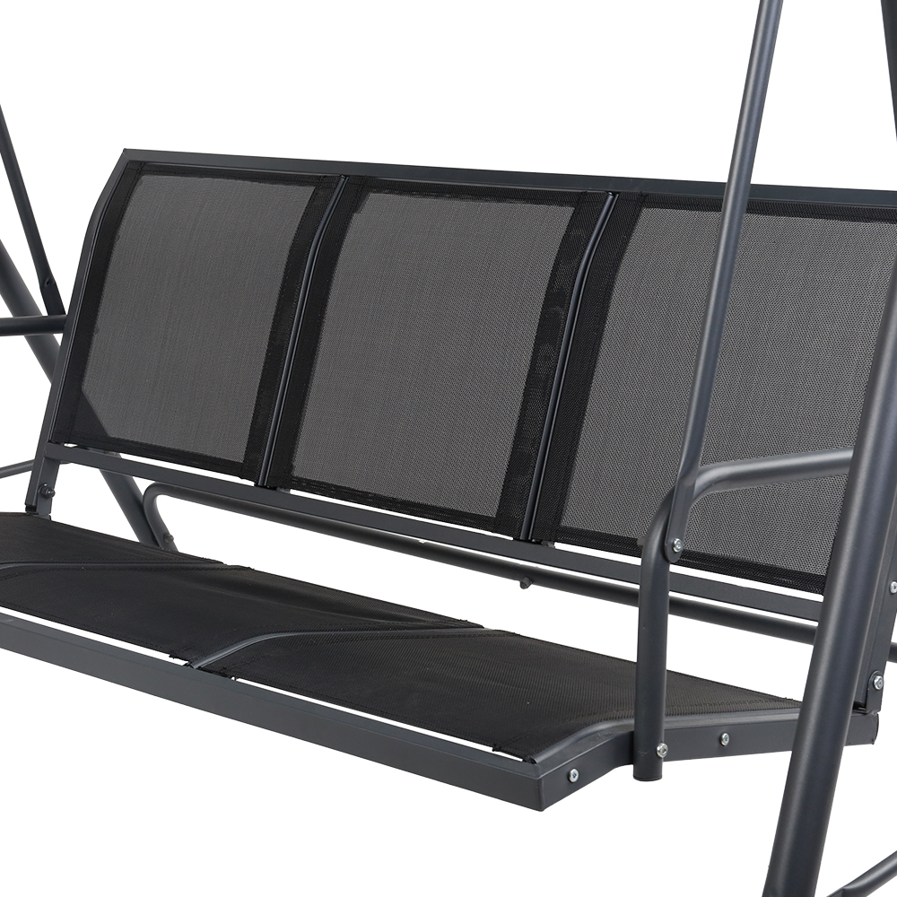Gardeon Outdoor 3 Seater Swing Chair With Canopy Inside Most Up To Date 3 Seater Swings With Frame And Canopy (View 26 of 30)