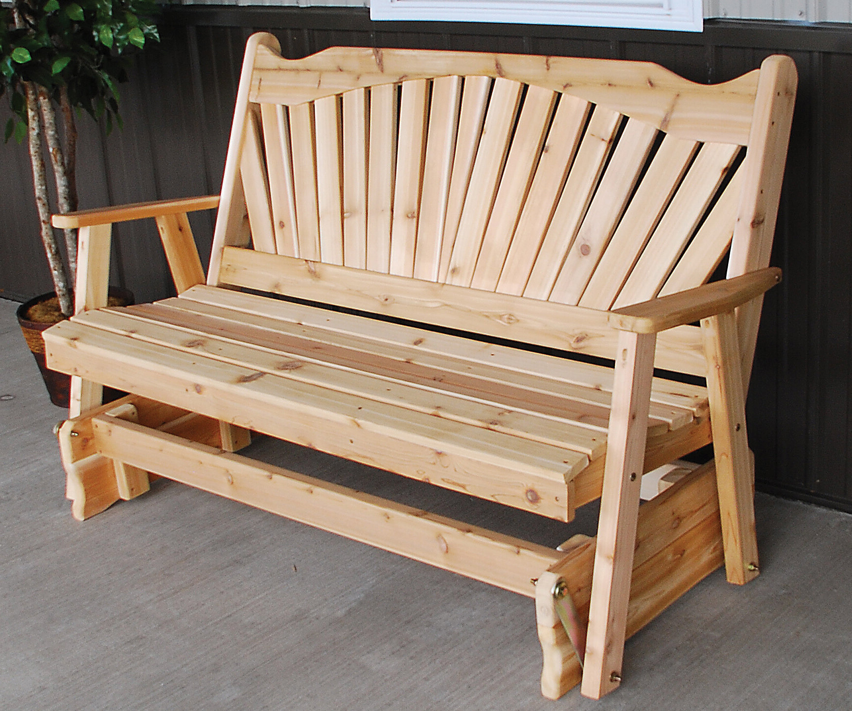 Gaven Fanback Glider Bench For Current Traditional Glider Benches (View 10 of 30)