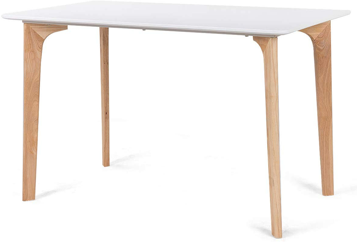 """Giantex Modern Dining Table Mid Century Home Dining Room Kitchen Table W/rectangular Top Wood Legs 47.5"""" X (View 3 of 30)"""