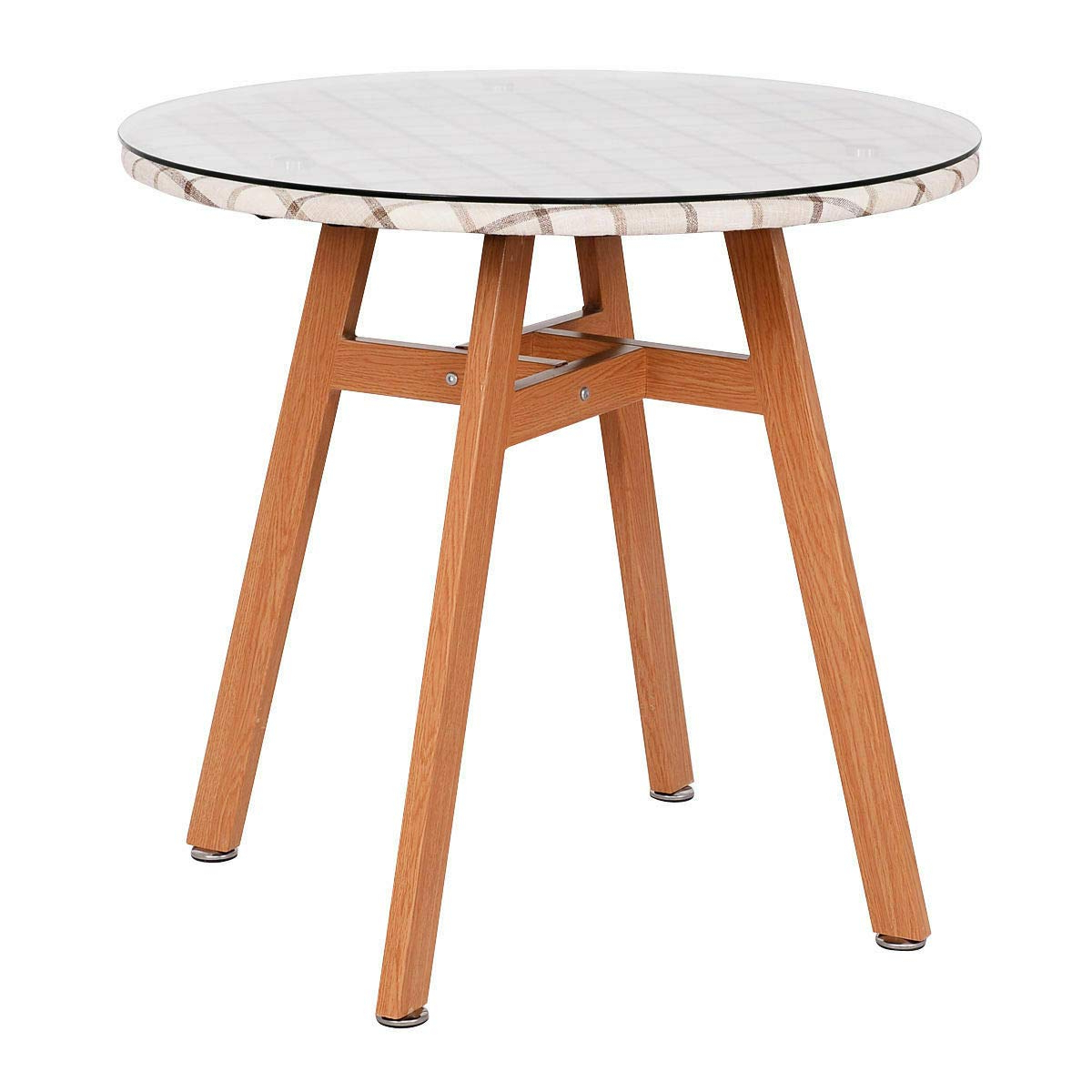 Giantex Round Dining Table Steel Frame Tempered Glass Top Home Decor  Kitchen Furniture Within Fashionable Round Dining Tables With Glass Top (View 14 of 30)