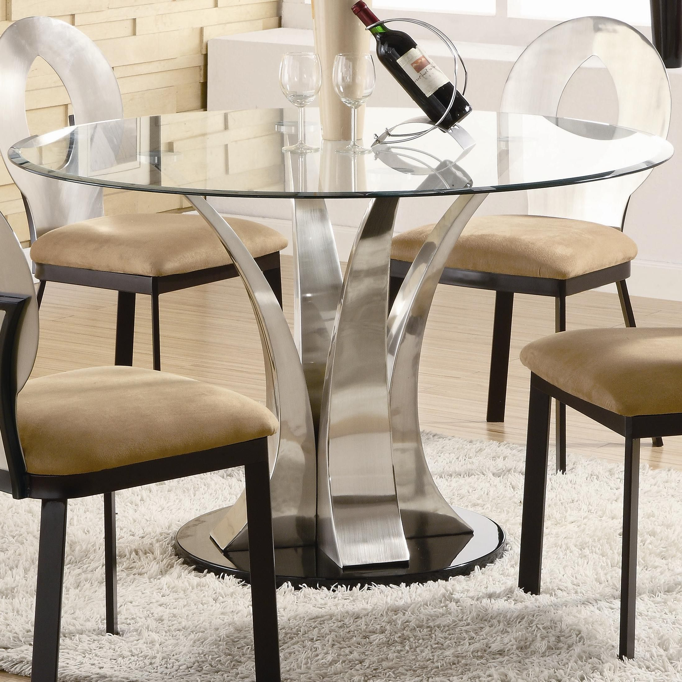 Featured Photo of Modern Round Glass Top Dining Tables