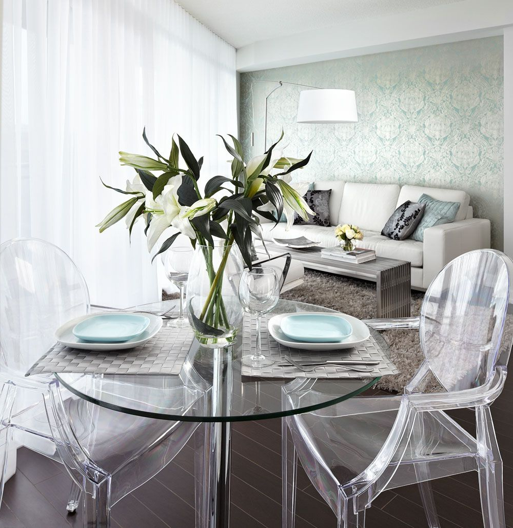 Featured Photo of Glass Top Condo Dining Tables