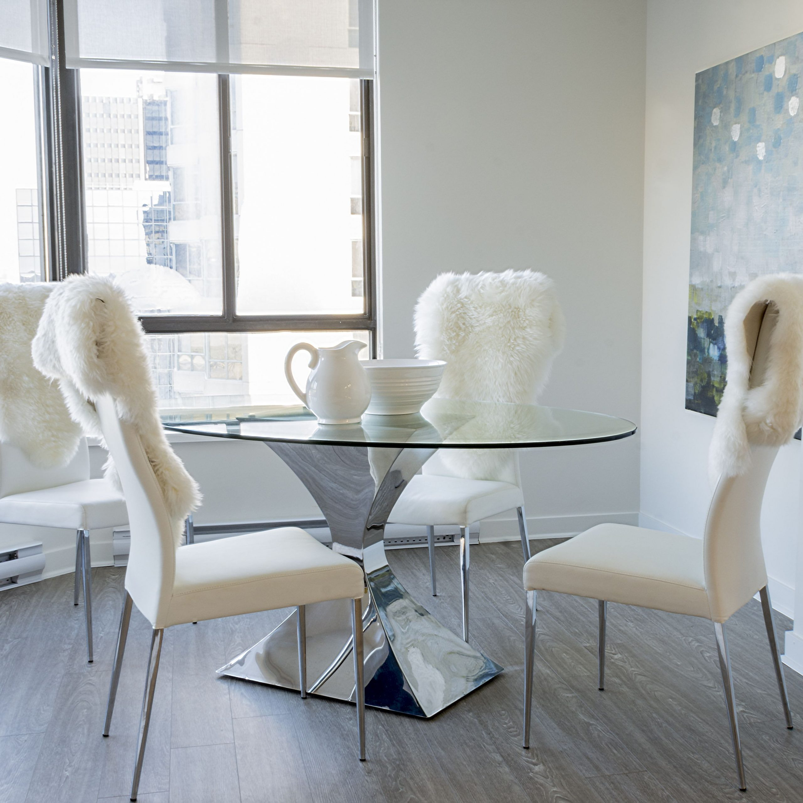 Glass Top Condo Dining Tables Pertaining To Recent Condo Dining With A View (View 10 of 30)