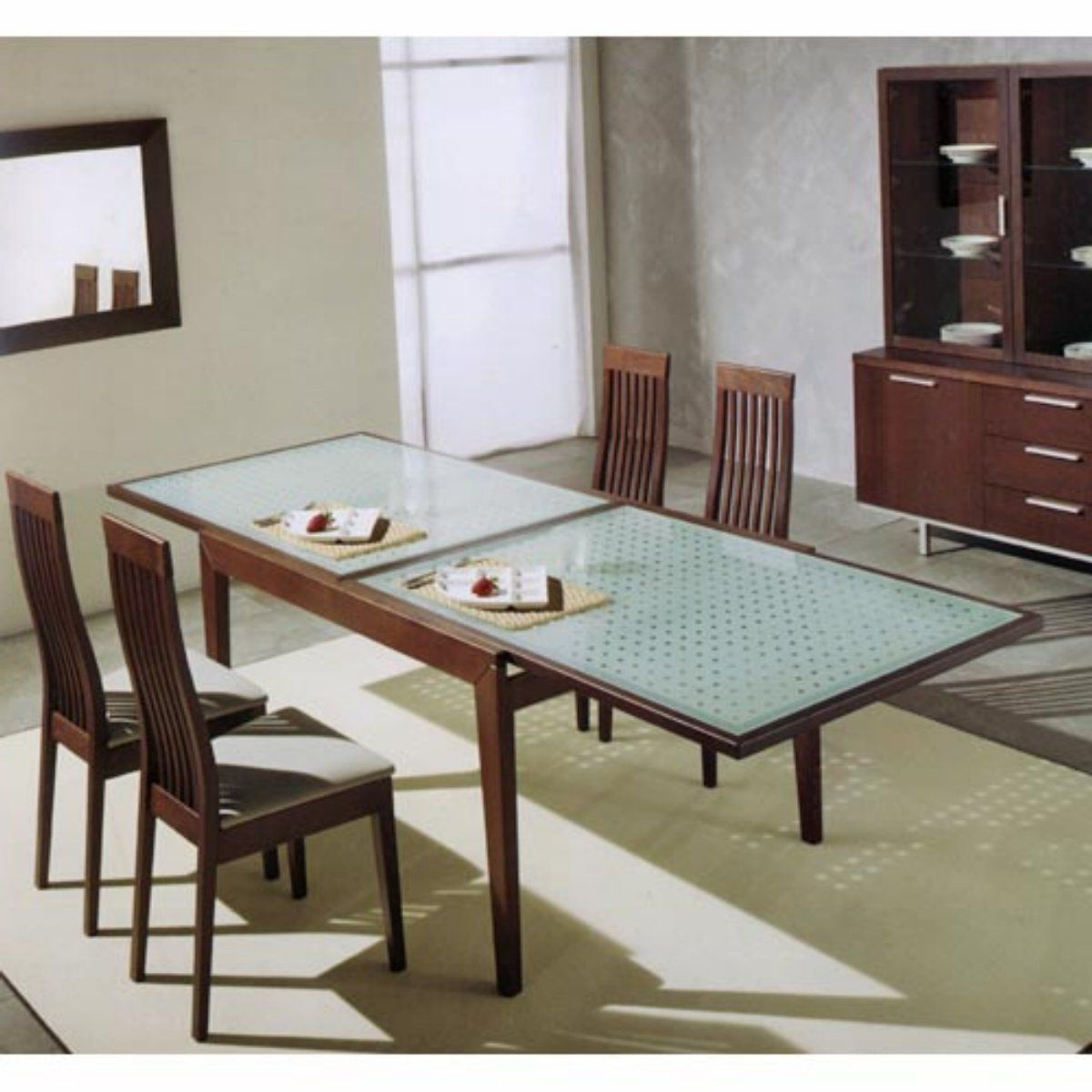 Glass Top Dining Table Pertaining To Latest Modern Glass Top Extension Dining Tables In Matte Black (View 10 of 30)