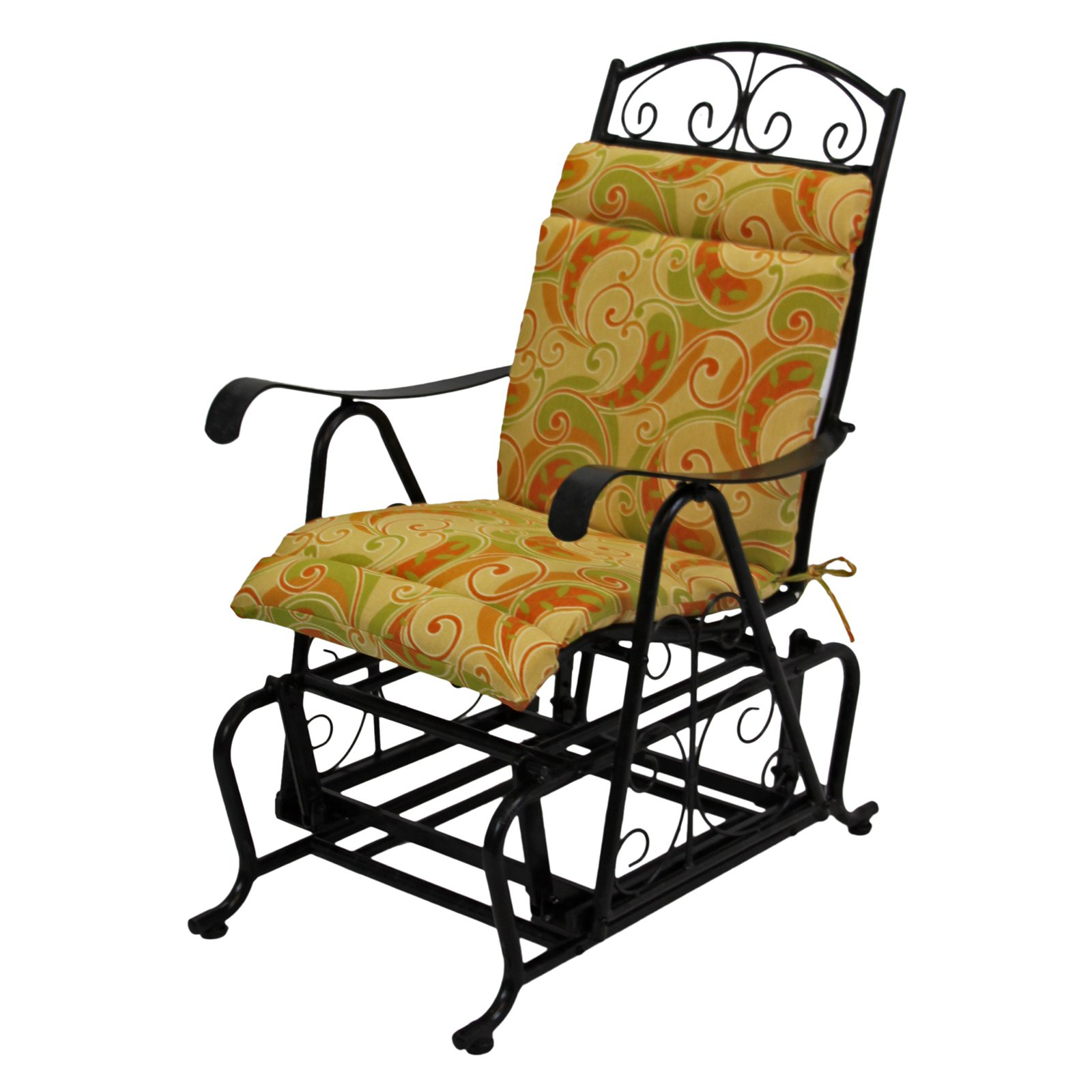 Glider Benches With Cushion In Well Known Blazing Needles Outdoor Glider Chair Hinged Seat & Back (View 14 of 30)