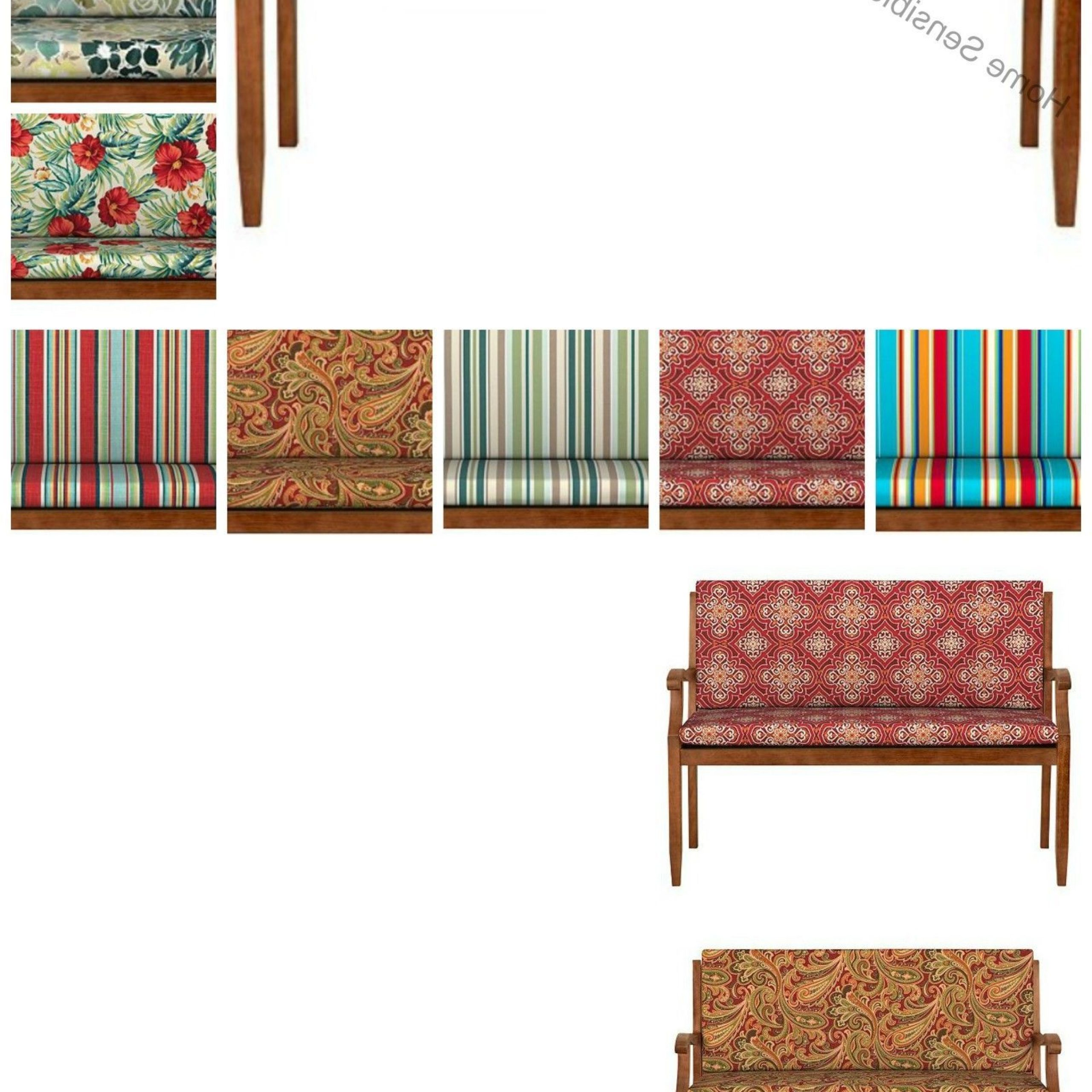 Glider Benches With Cushion Regarding Most Popular Patio Furniture Cushions And Pads 79683: 40 Hinged Glider (View 16 of 30)