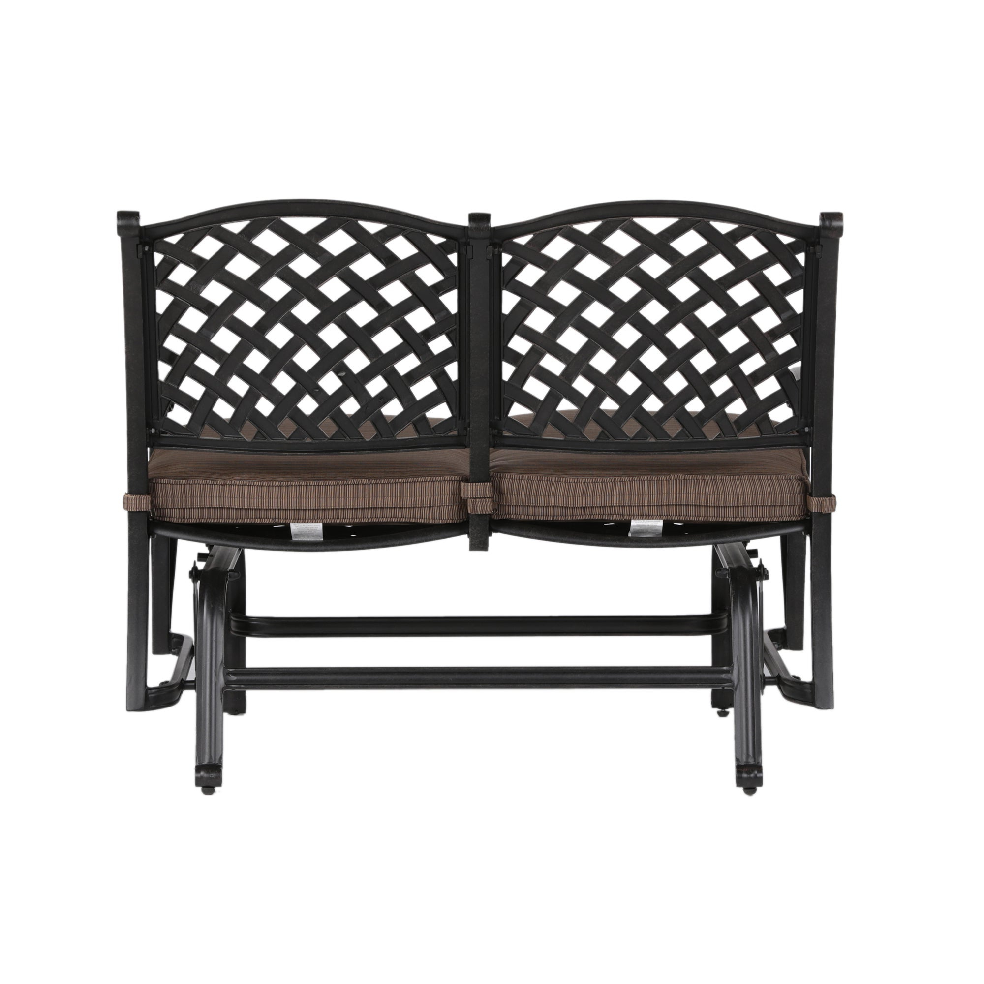 Glider Benches With Cushion Throughout Well Known South Ponto Aluminum Bench Glider With Cushion (View 18 of 30)