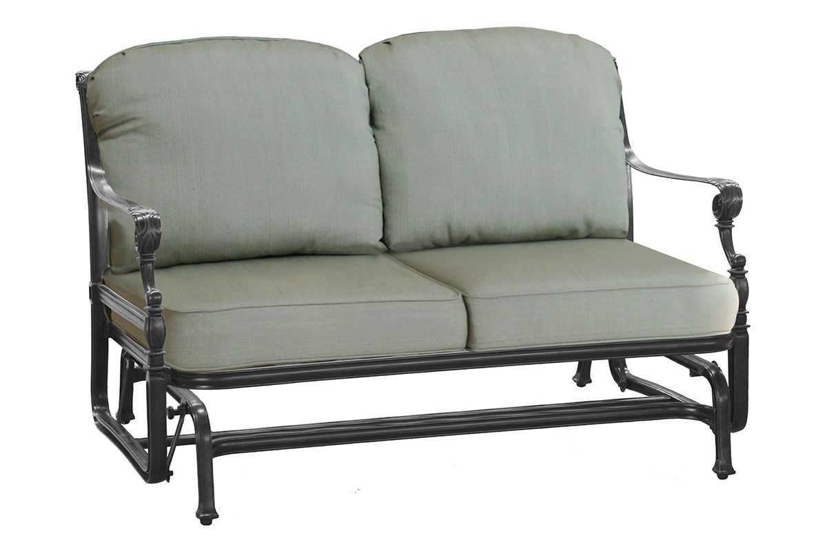 Grand Terrace Loveseat Glider 10340004 With 2020 Padded Sling Loveseats With Cushions (View 12 of 30)