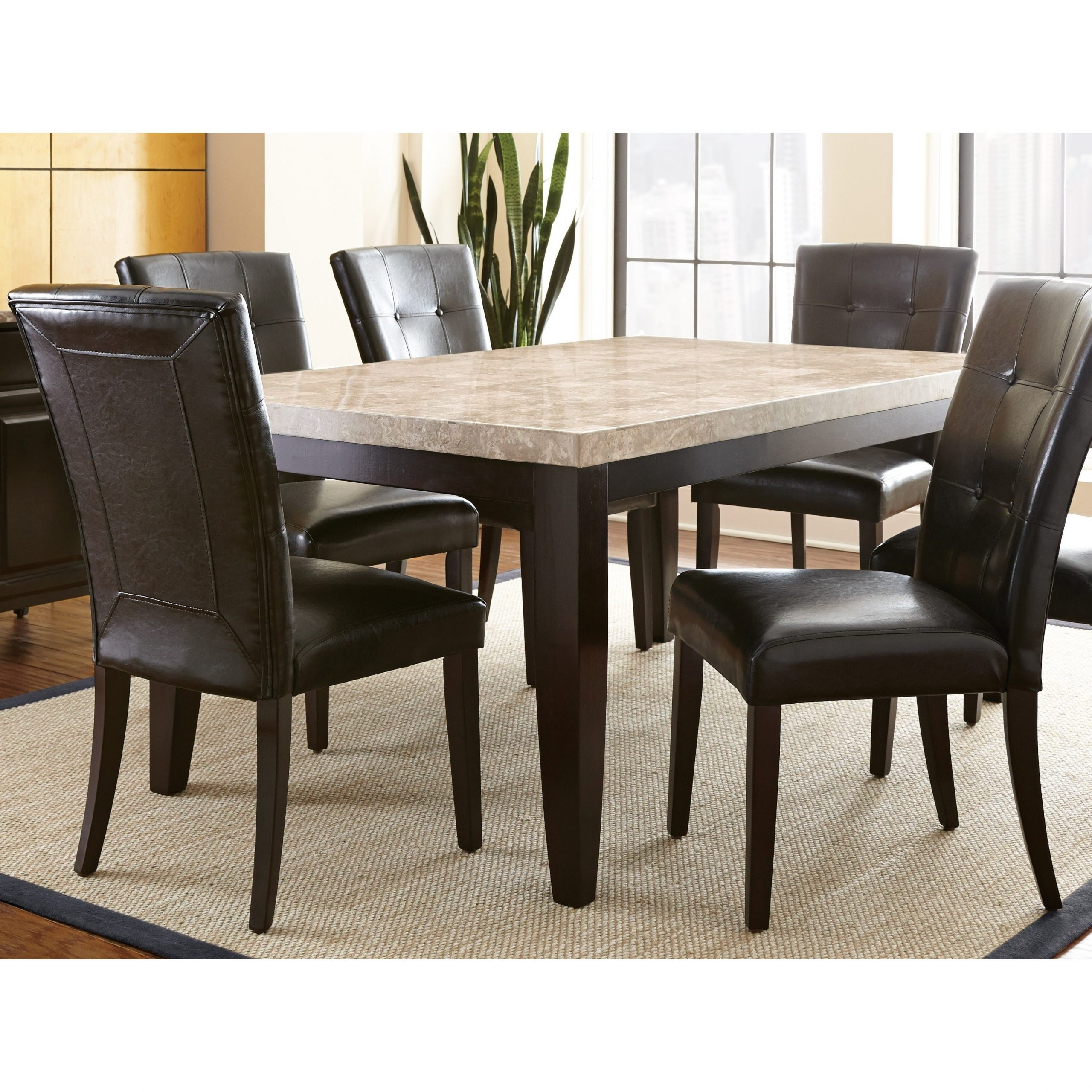 Greyson Living Malone 70 Inch Marble Top Dining Table – Espresso Regarding Well Known Wood Top Dining Tables (View 21 of 30)