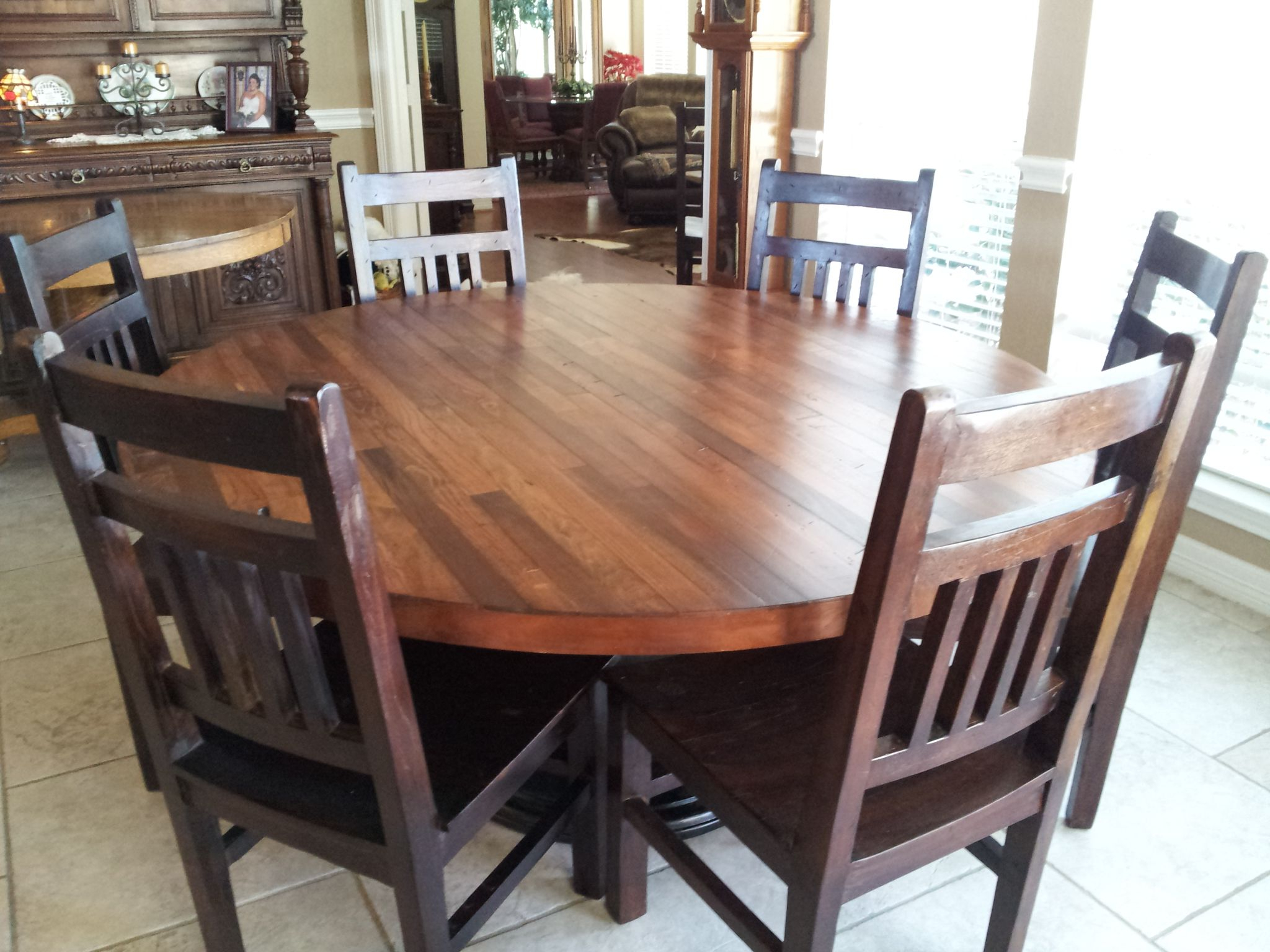 Hand Made Hand Crafted 66 Inch Plank Top Dining Tableb With Regard To Trendy Wood Top Dining Tables (View 11 of 30)