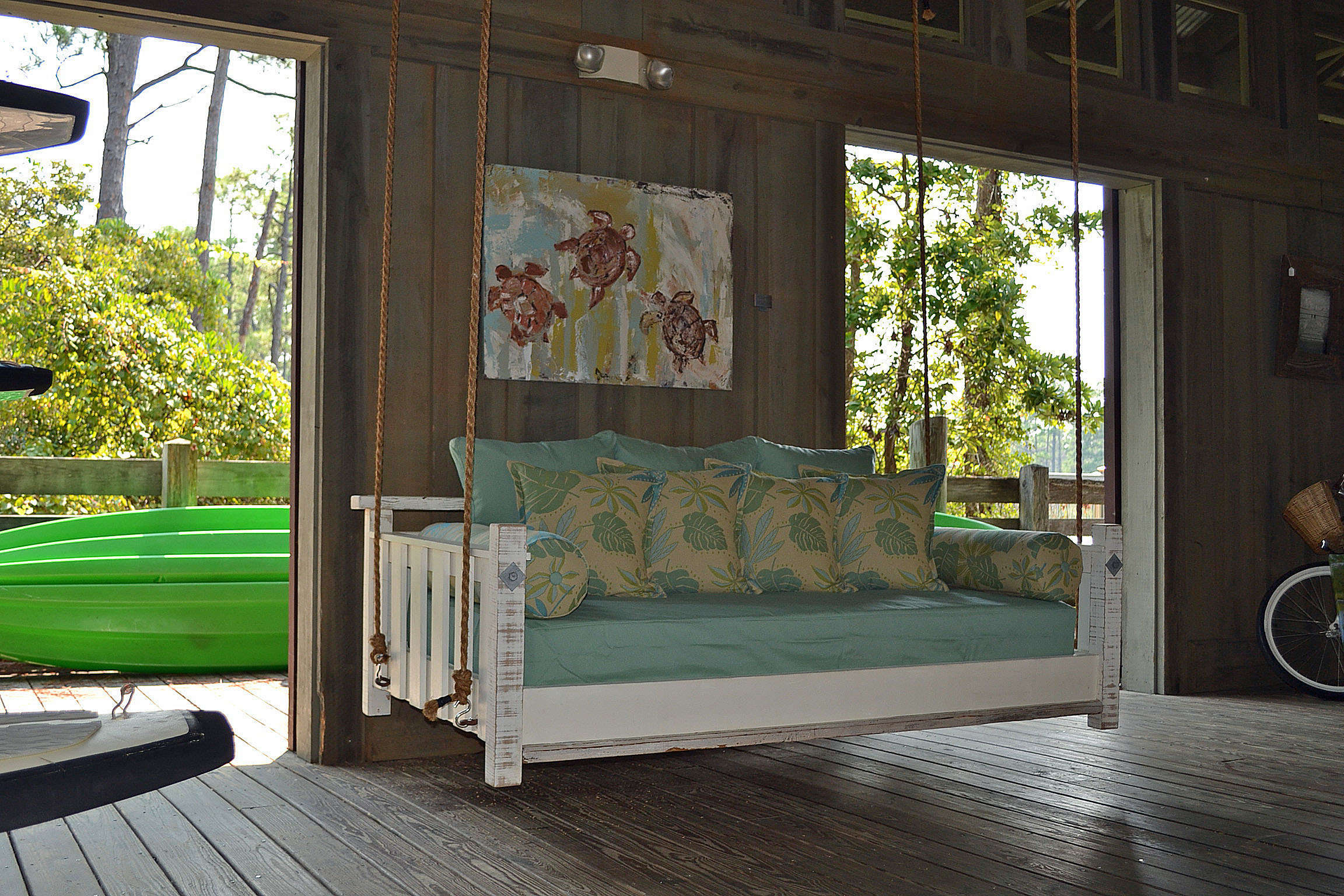 Hanging Daybed Rope Porch Swings For 2020 Engaging Daybed Porch Swing Furniture Frame Cover Cushions (View 11 of 30)