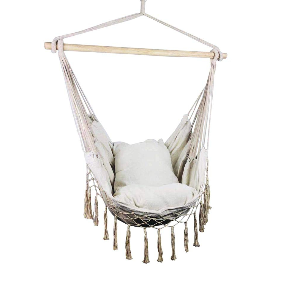 Hanging Daybed Rope Porch Swings Inside 2020 Sk Ybb Hanging Rope Hammock Chair Porch Swing Seat, Large (View 13 of 30)