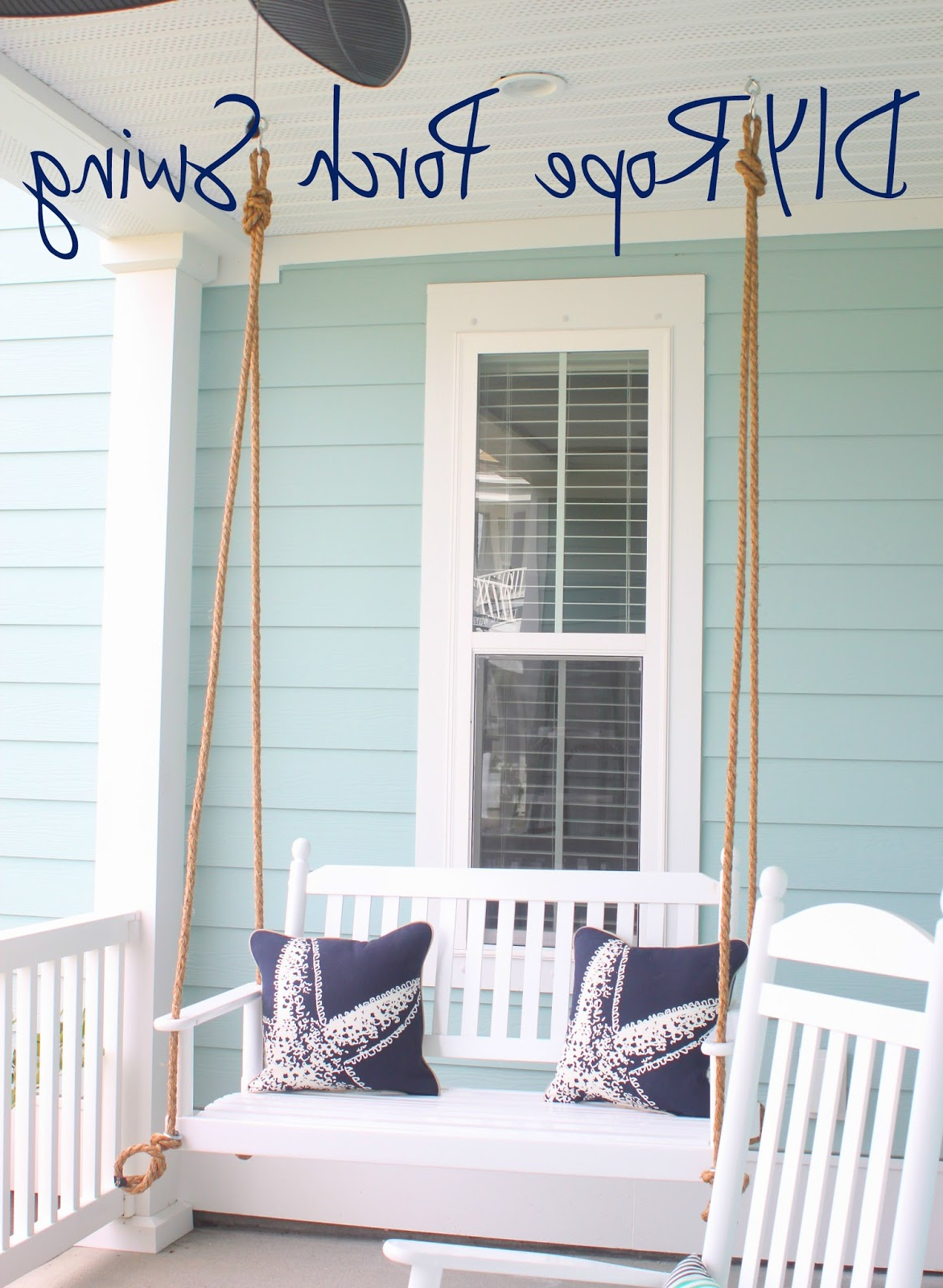 Hanging Daybed Rope Porch Swings Pertaining To Newest Borrowed Heaven: Diy Rope Porch Swing (View 15 of 30)
